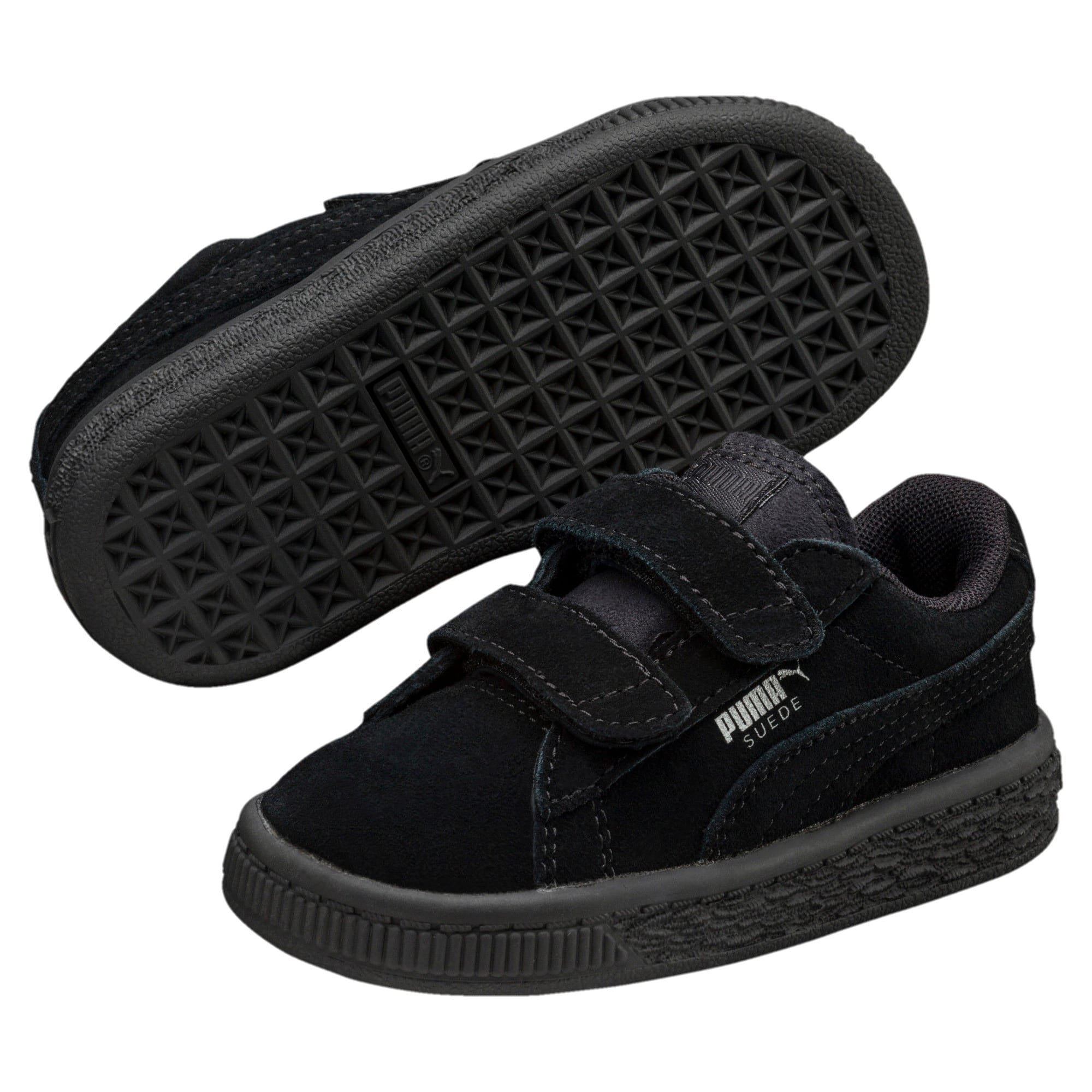 Thumbnail 2 of Suede Two-strap Babies' Trainers, Puma Black-Puma Silver, medium