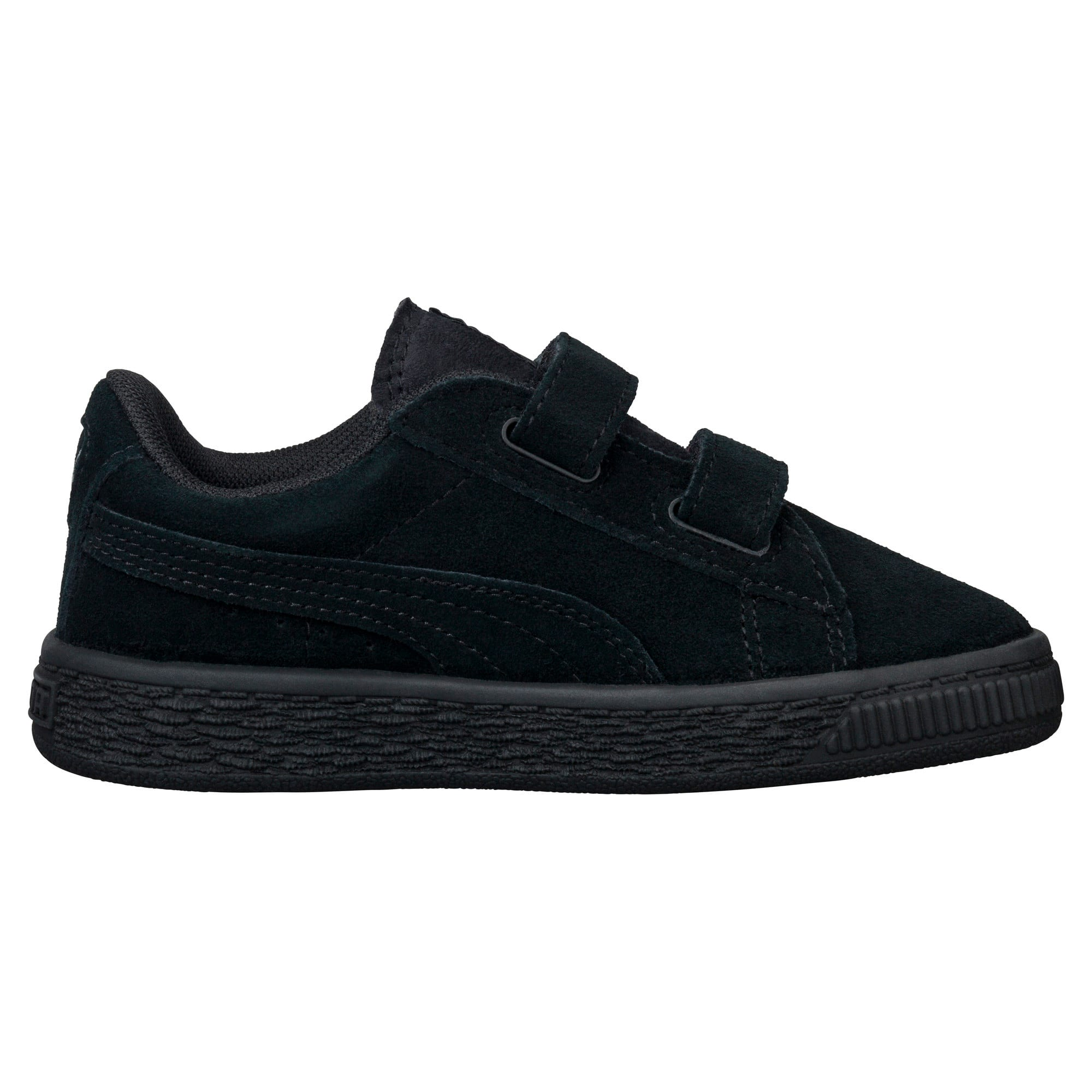 Thumbnail 3 of Suede Two-strap Babies' Trainers, Puma Black-Puma Silver, medium