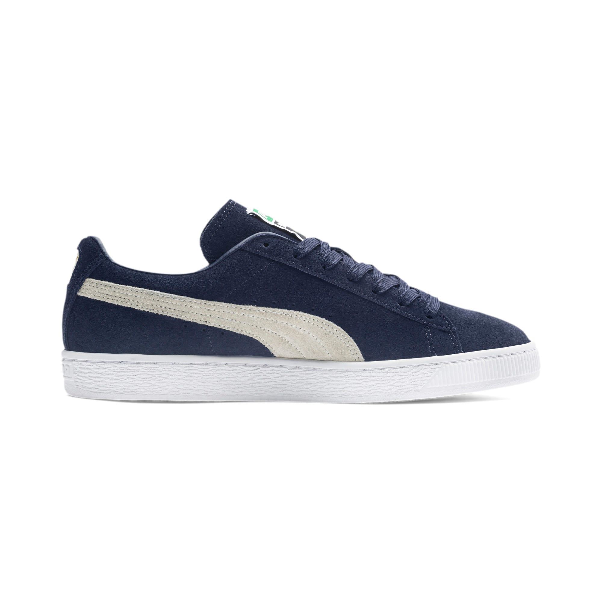 Thumbnail 5 of Suede Classic+ Trainers, peacoat-white, medium-IND