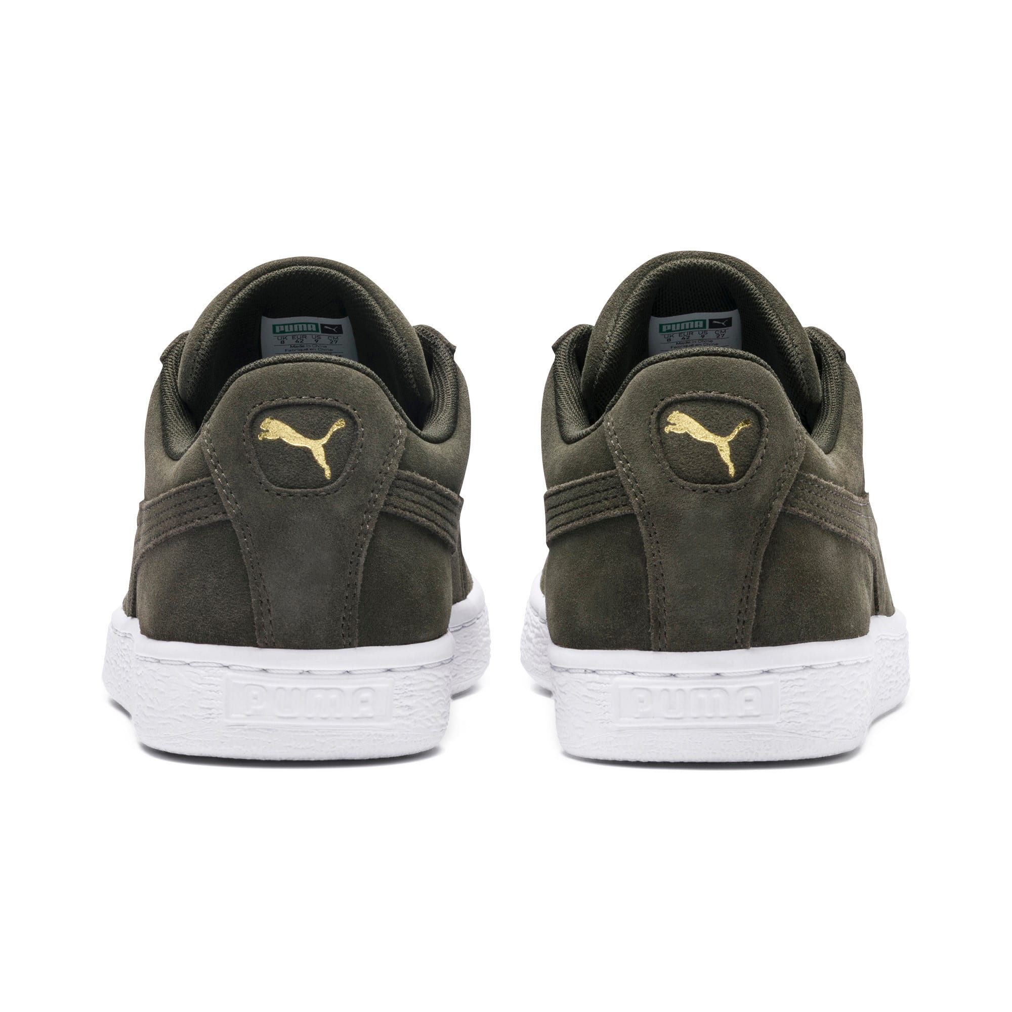 Thumbnail 3 of Suede Classic+ Trainers, forest night-white, medium