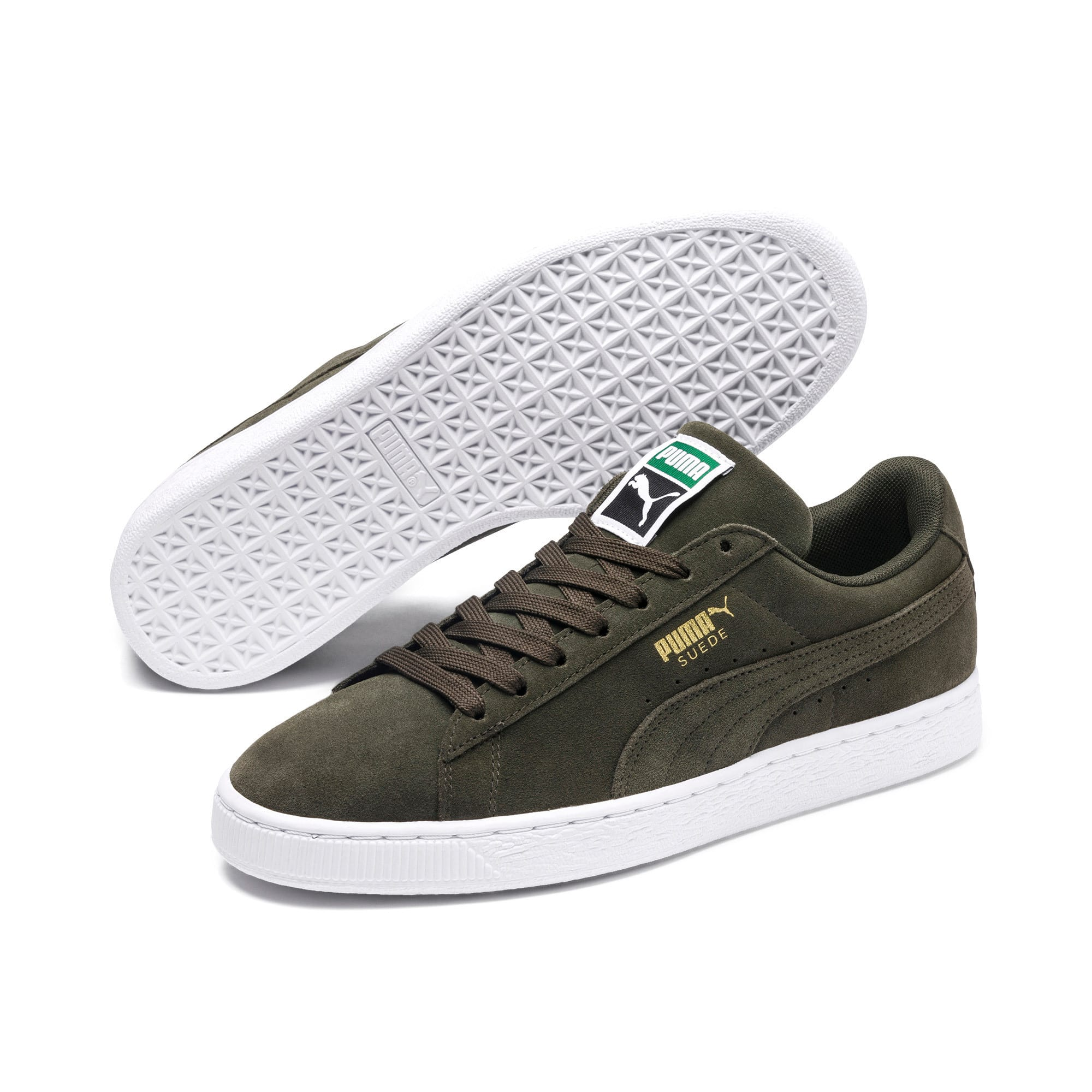 Thumbnail 2 of Suede Classic+ Trainers, forest night-white, medium