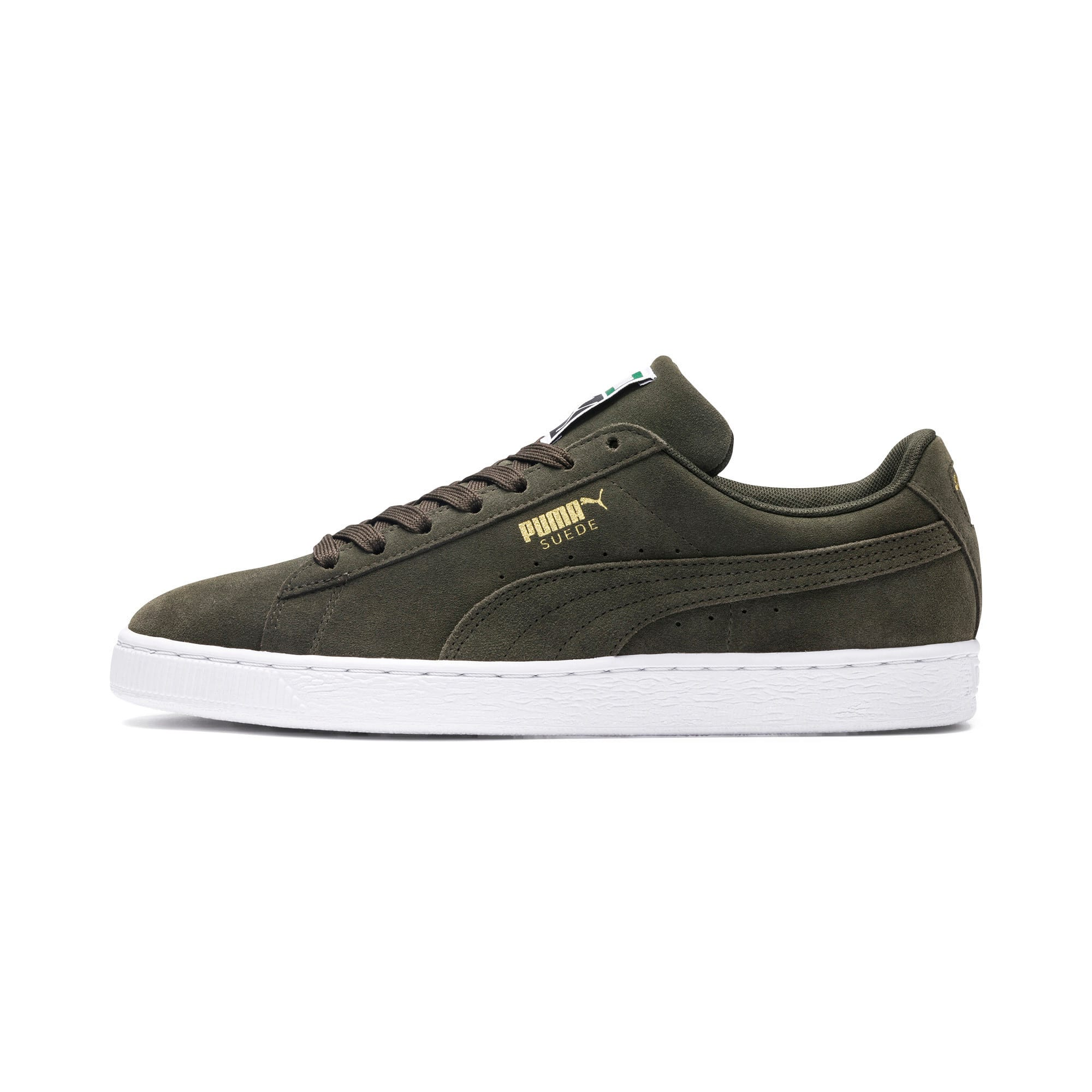 Thumbnail 1 of Suede Classic+ Trainers, forest night-white, medium
