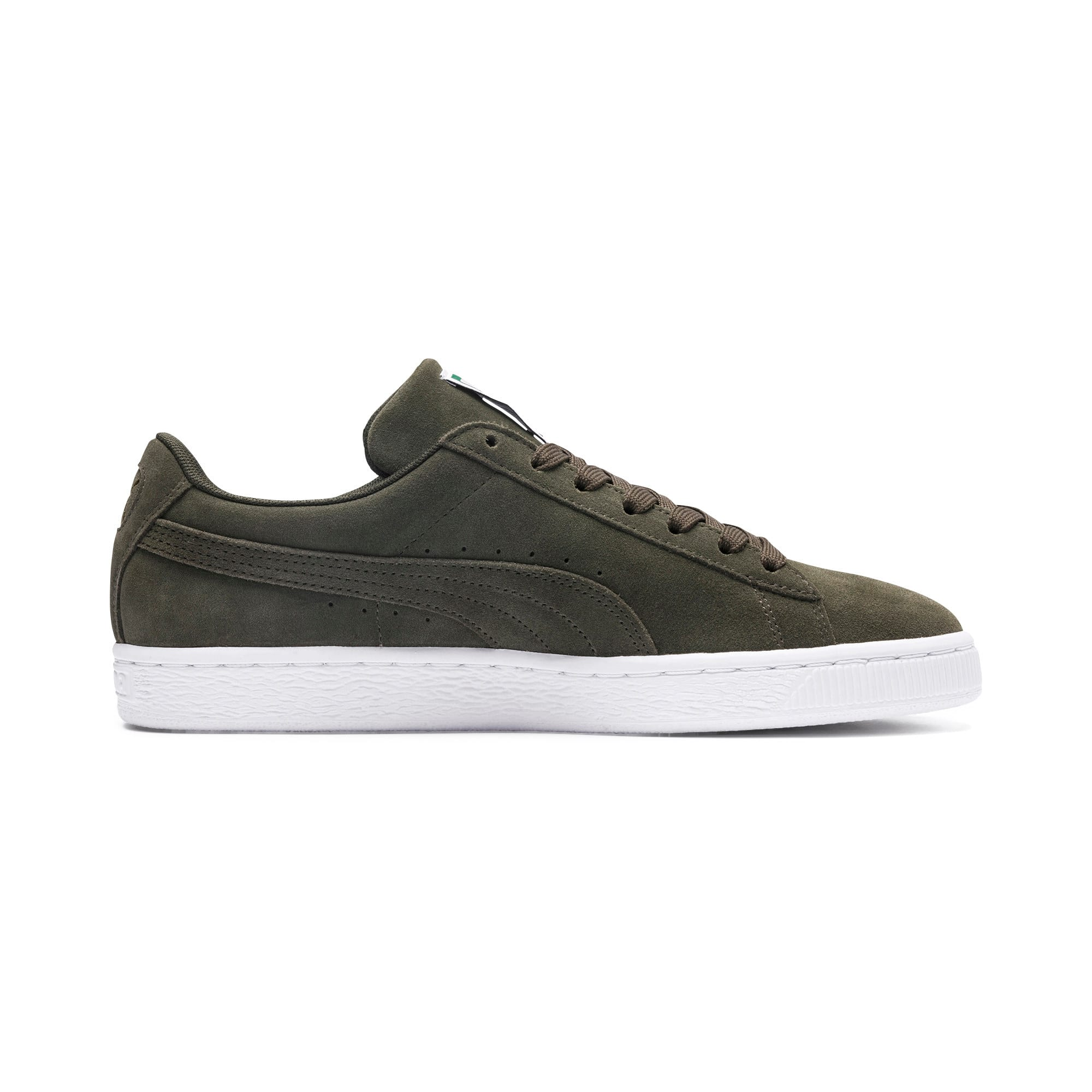 Thumbnail 5 of Suede Classic+ Trainers, forest night-white, medium
