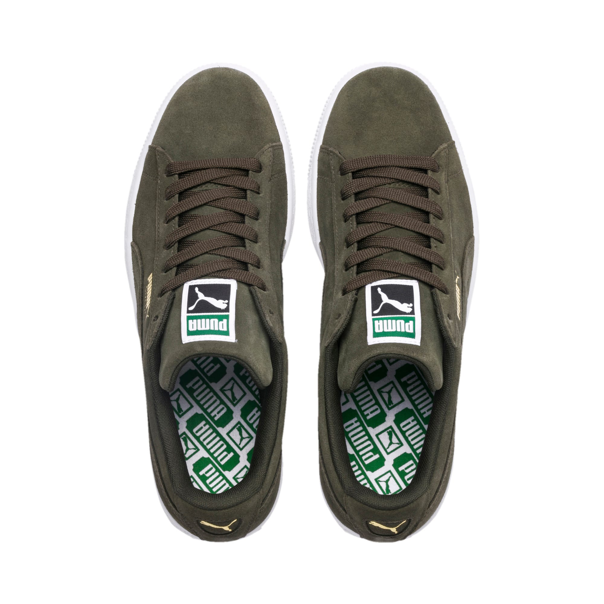 Thumbnail 6 of Suede Classic+ Trainers, forest night-white, medium