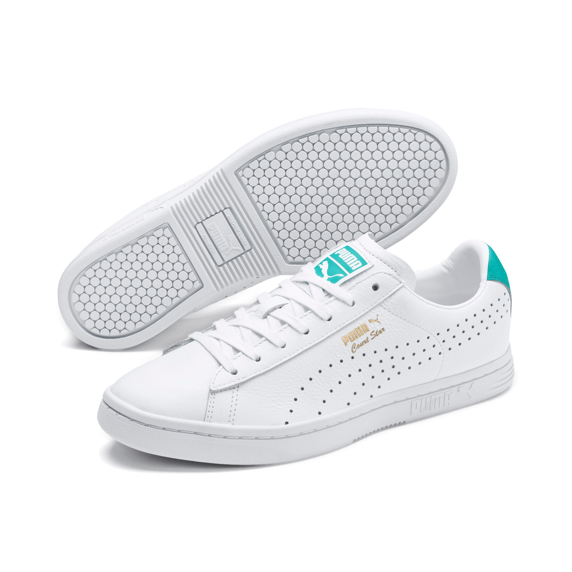 Thumbnail 2 of Court Star Sneakers, Puma White-Blue Turquoise, medium