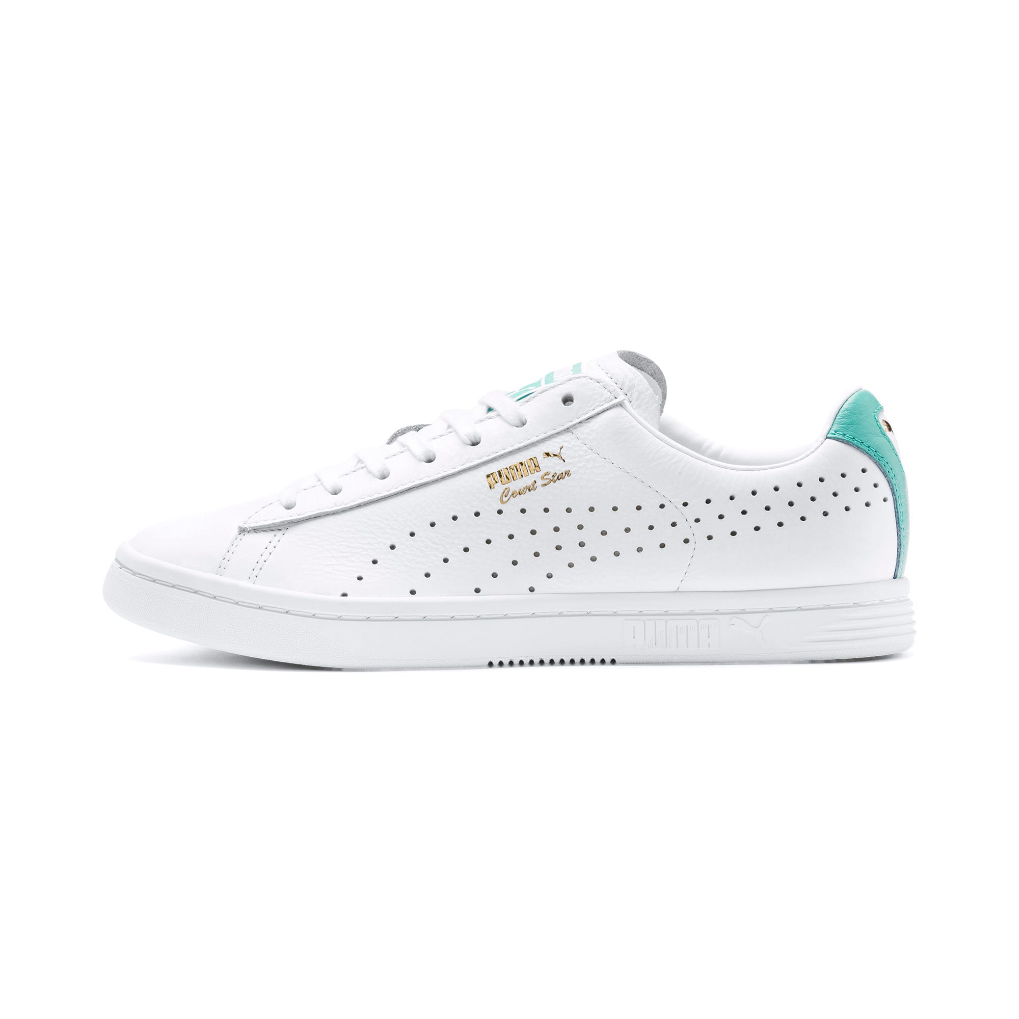 Thumbnail 1 of Court Star Sneakers, Puma White-Blue Turquoise, medium