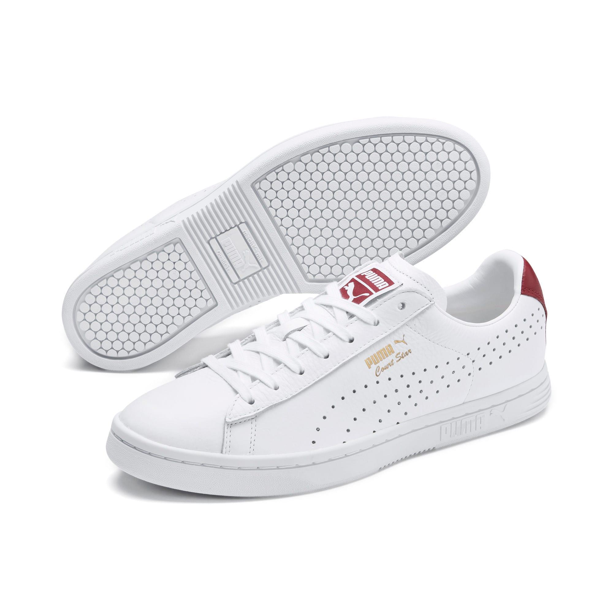 Thumbnail 2 of Court Star Sneakers, Puma White-Rhubarb, medium