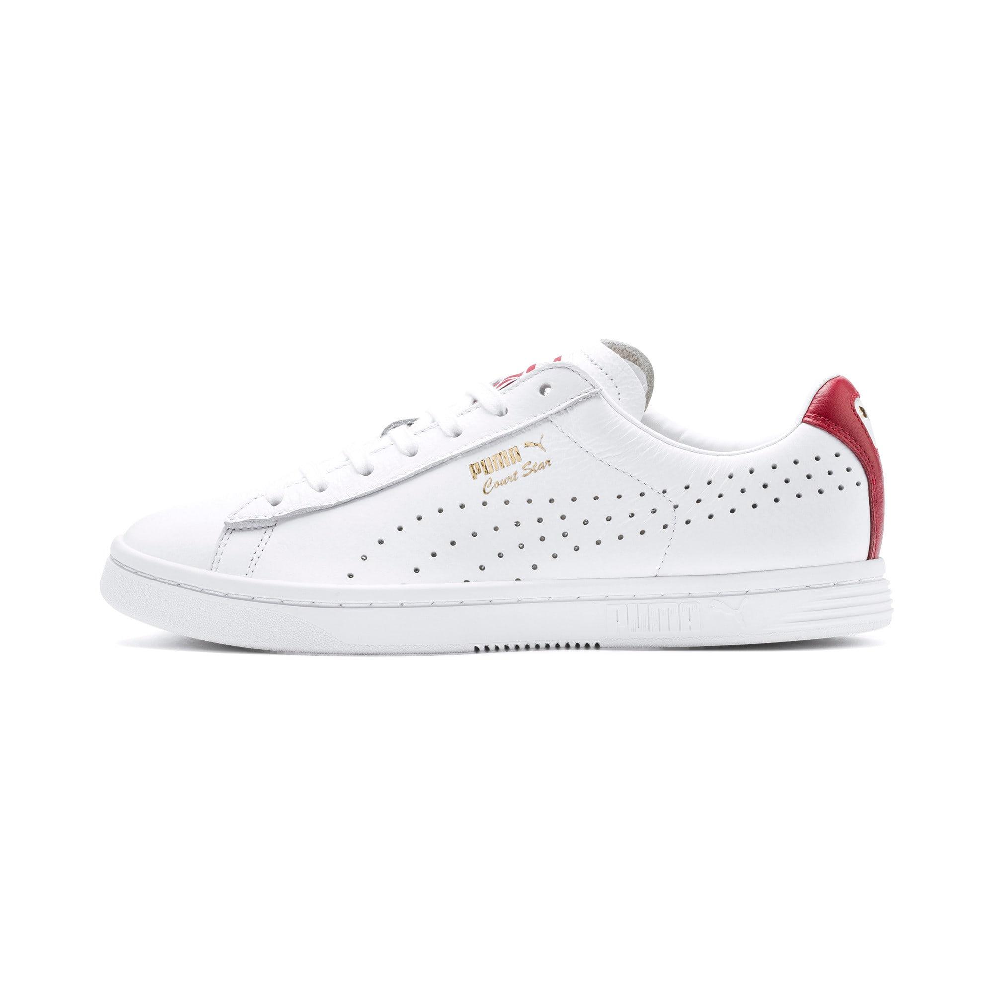 Thumbnail 1 of Court Star Sneakers, Puma White-Rhubarb, medium