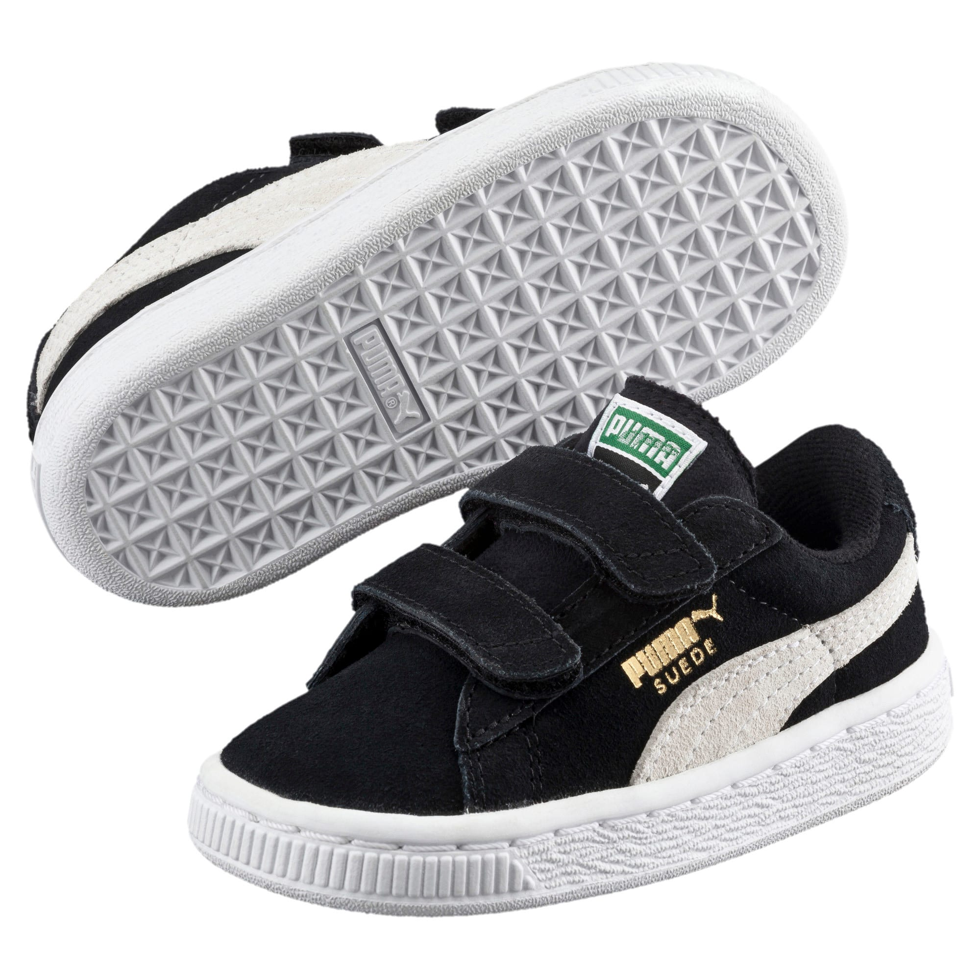 Thumbnail 2 of Suede sneakers voor kinderen, Puma Black-Puma White, medium