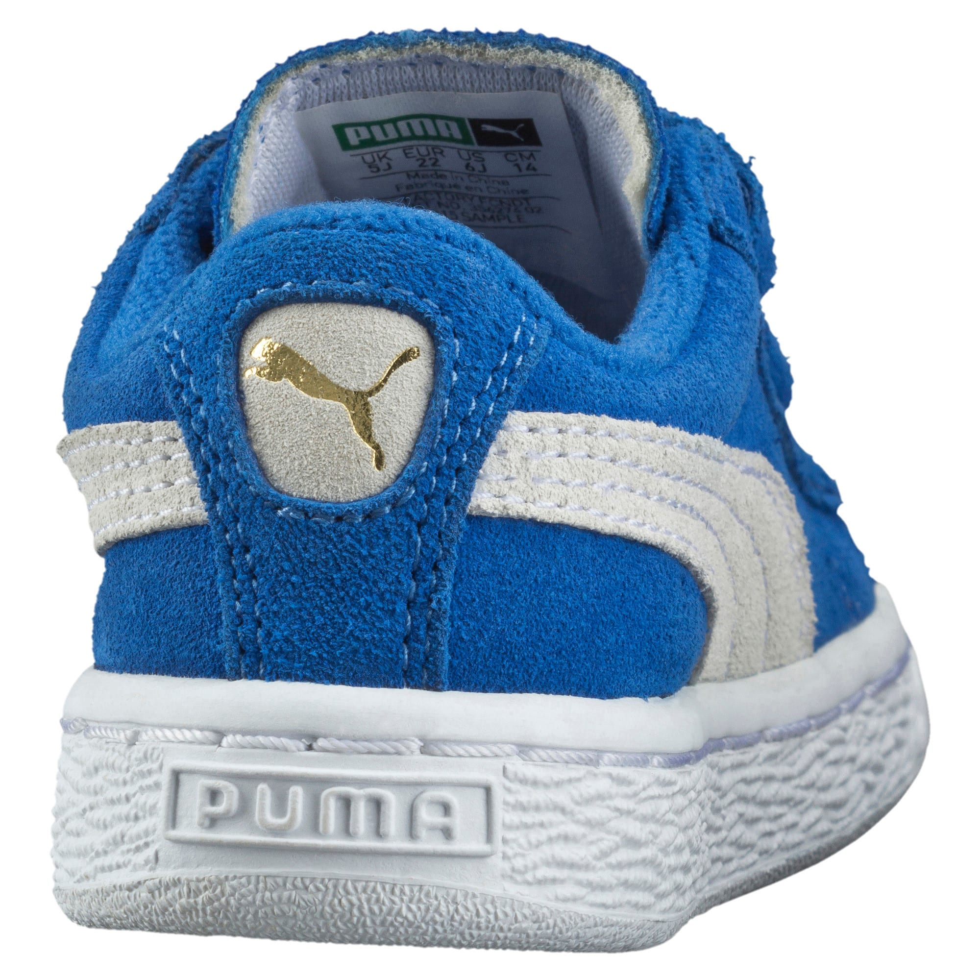 Thumbnail 3 of Suede Preschool Sneaker mit 2 Riemen, Snorkel Blue-Puma White, medium