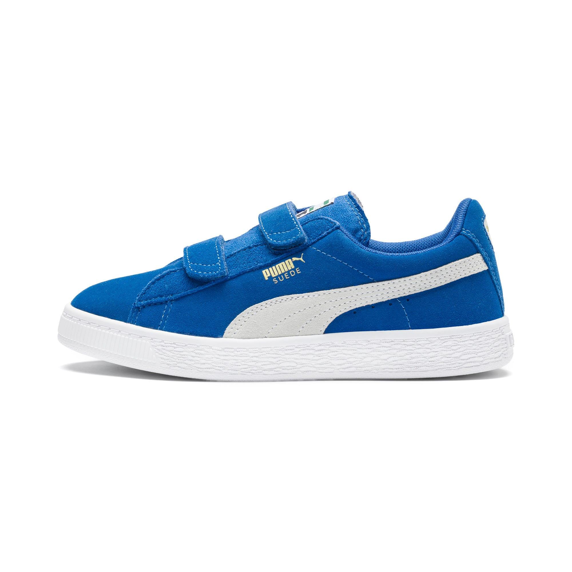 Thumbnail 1 of Suede Preschool Sneaker mit 2 Riemen, Snorkel Blue-Puma White, medium