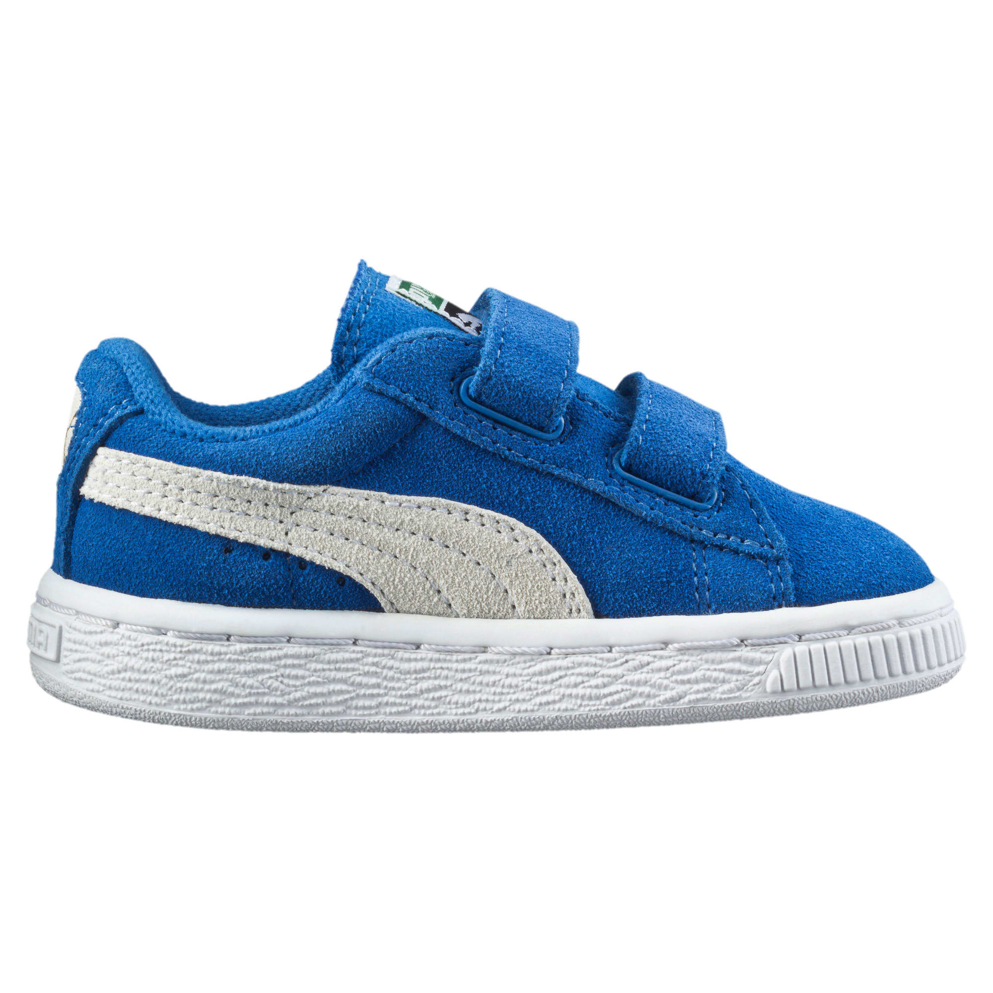 Thumbnail 4 of Suede Preschool Sneaker mit 2 Riemen, Snorkel Blue-Puma White, medium