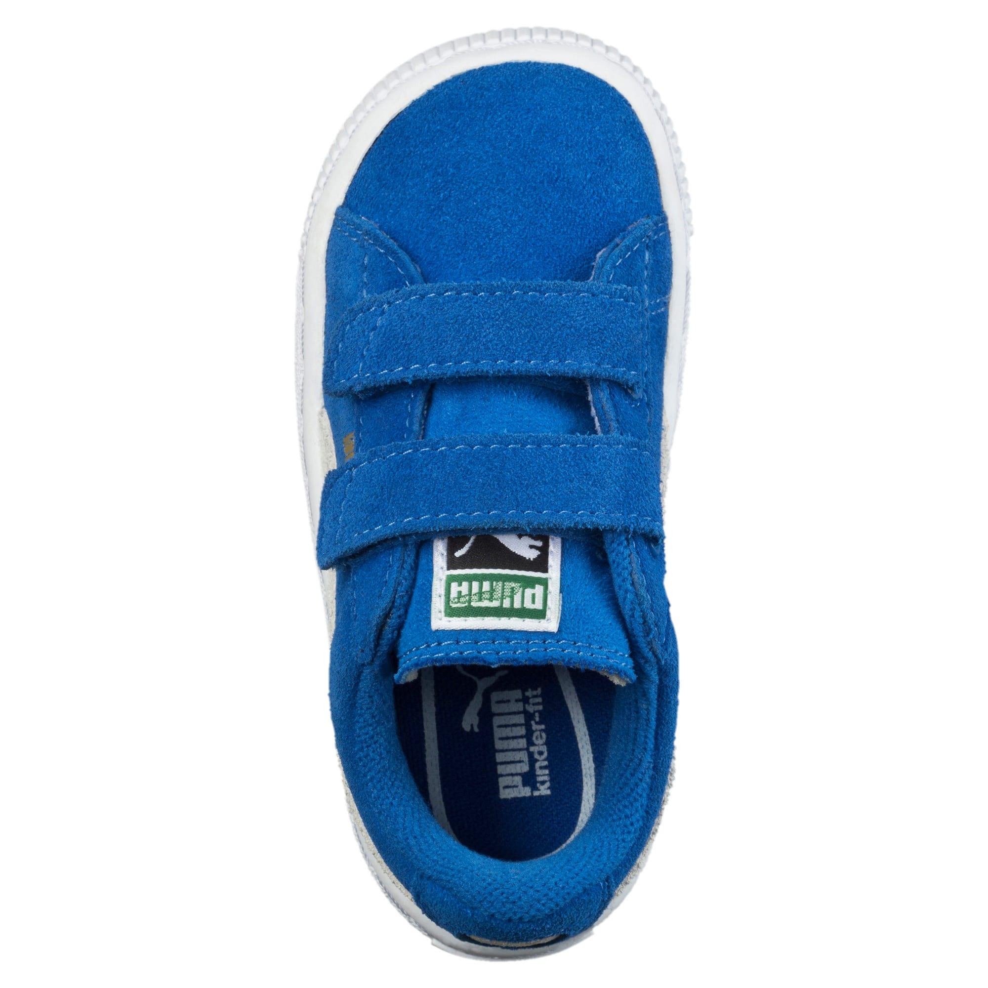 Thumbnail 5 of Suede Preschool Sneaker mit 2 Riemen, Snorkel Blue-Puma White, medium