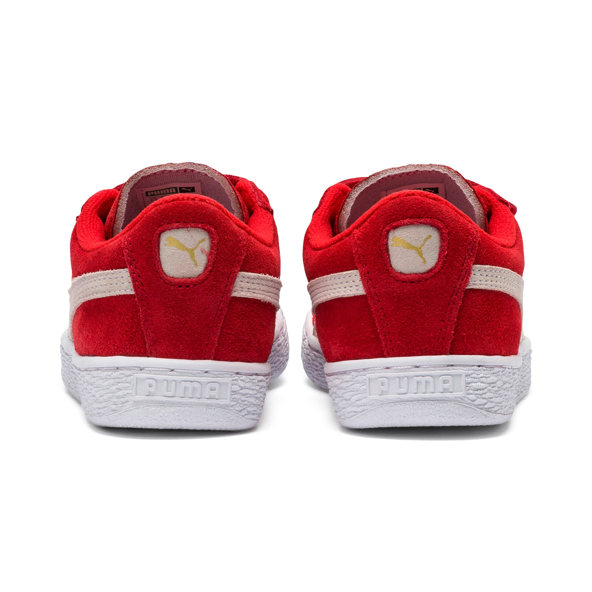 Thumbnail 3 of Suede Kids' Trainers, High Risk Red-Puma White, medium
