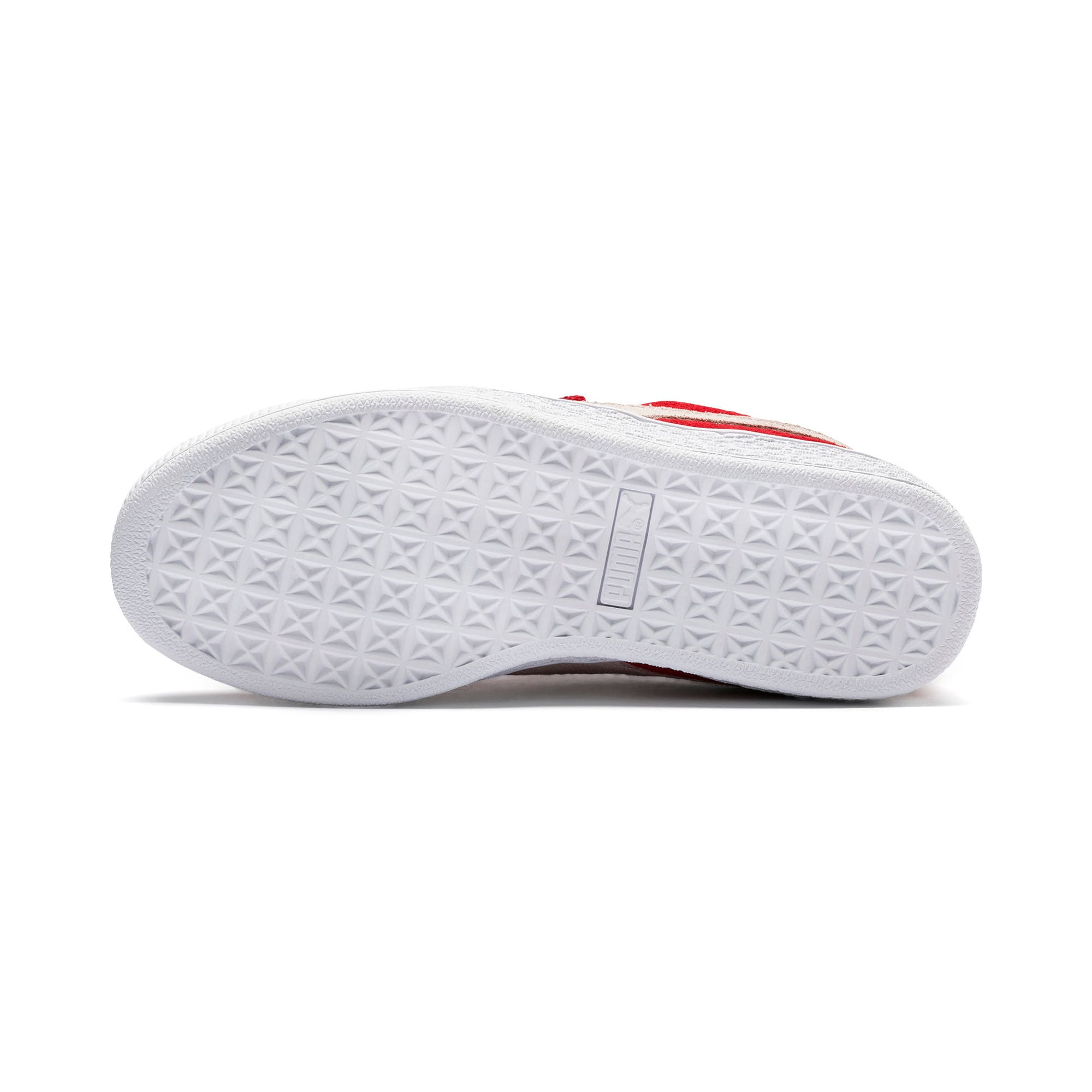 Thumbnail 4 of Suede Kids' Trainers, High Risk Red-Puma White, medium