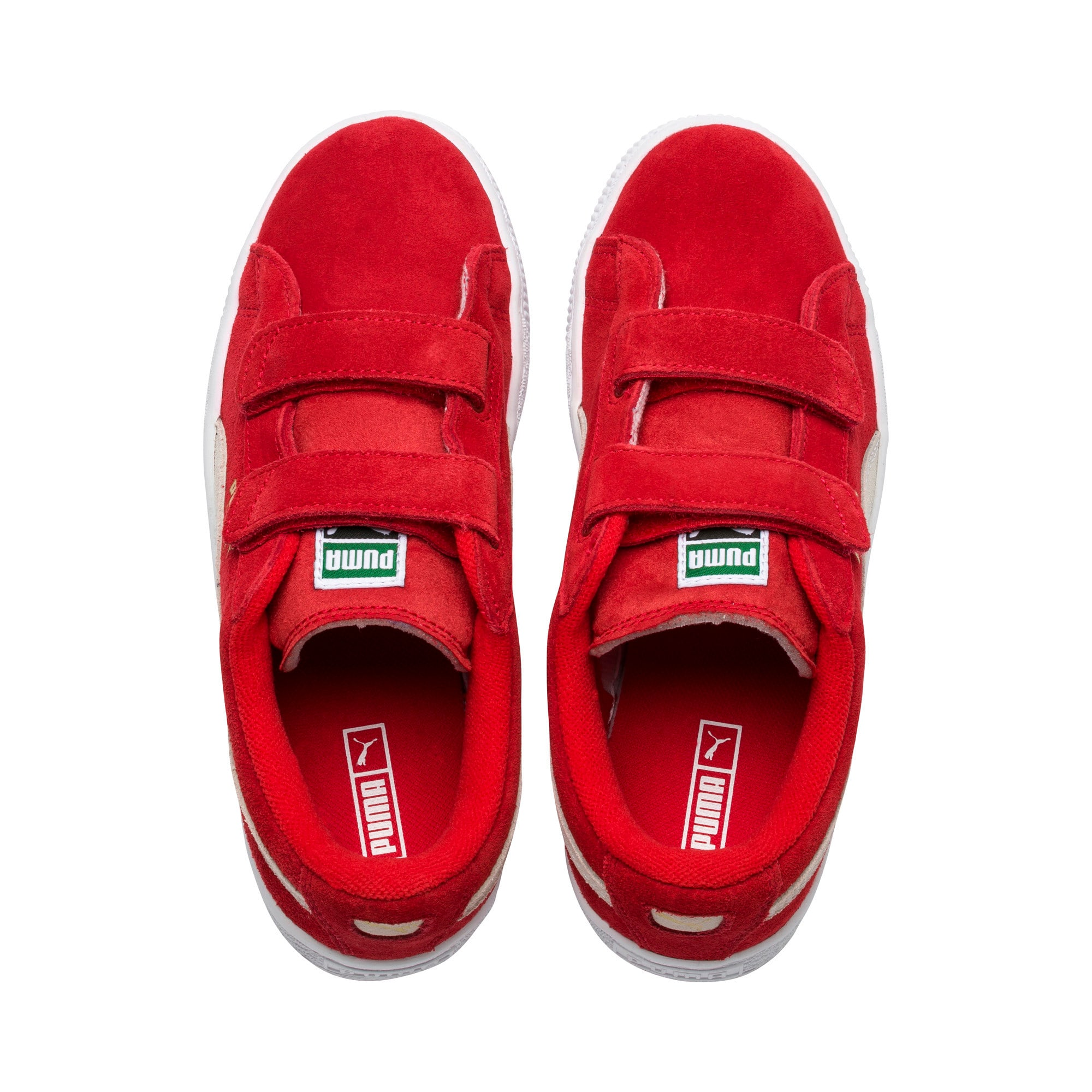 Thumbnail 6 of Suede Kids' Trainers, High Risk Red-Puma White, medium