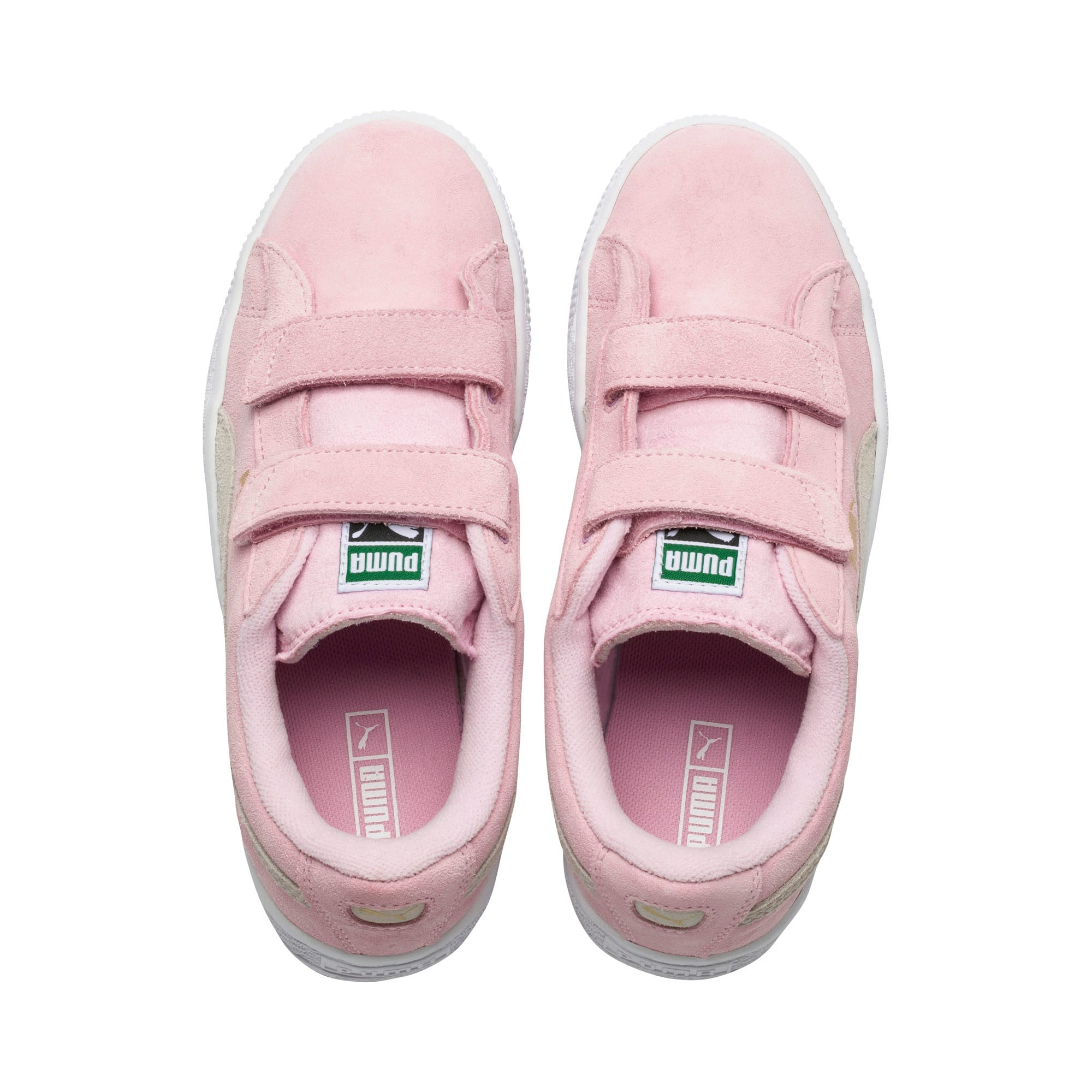 Thumbnail 6 of Suede Kids' Trainers, Pink Lady-Puma Team Gold, medium