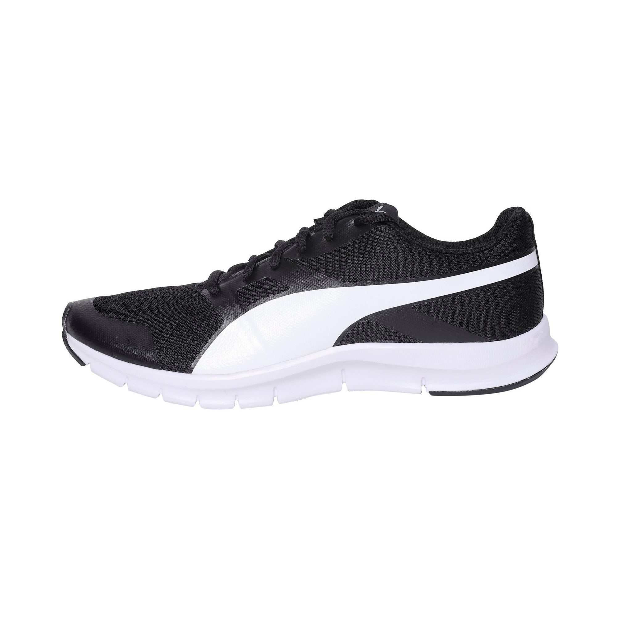 Thumbnail 1 of PUMA Flexracer Trainers, black-white, medium-IND