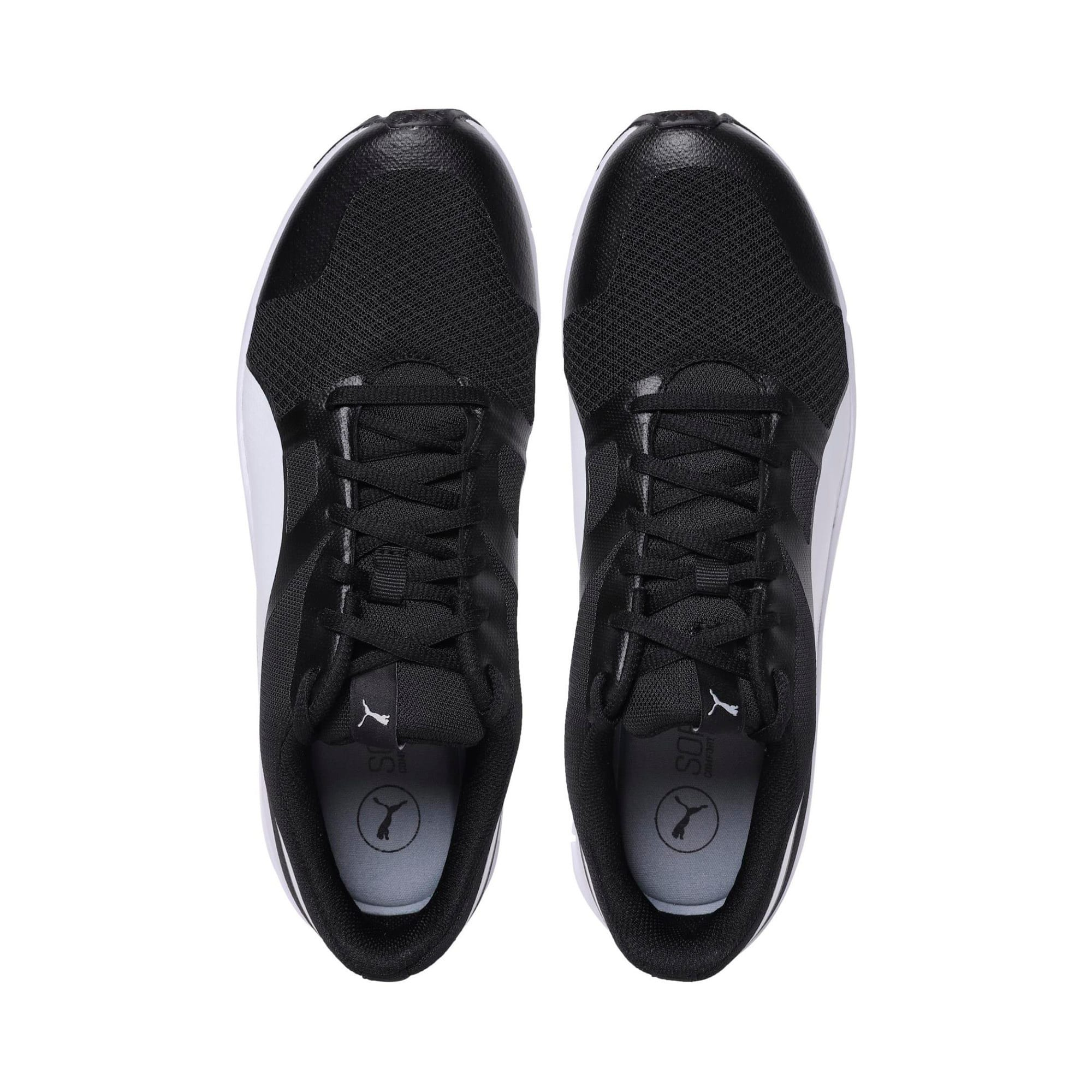 Thumbnail 6 of PUMA Flexracer Trainers, black-white, medium-IND