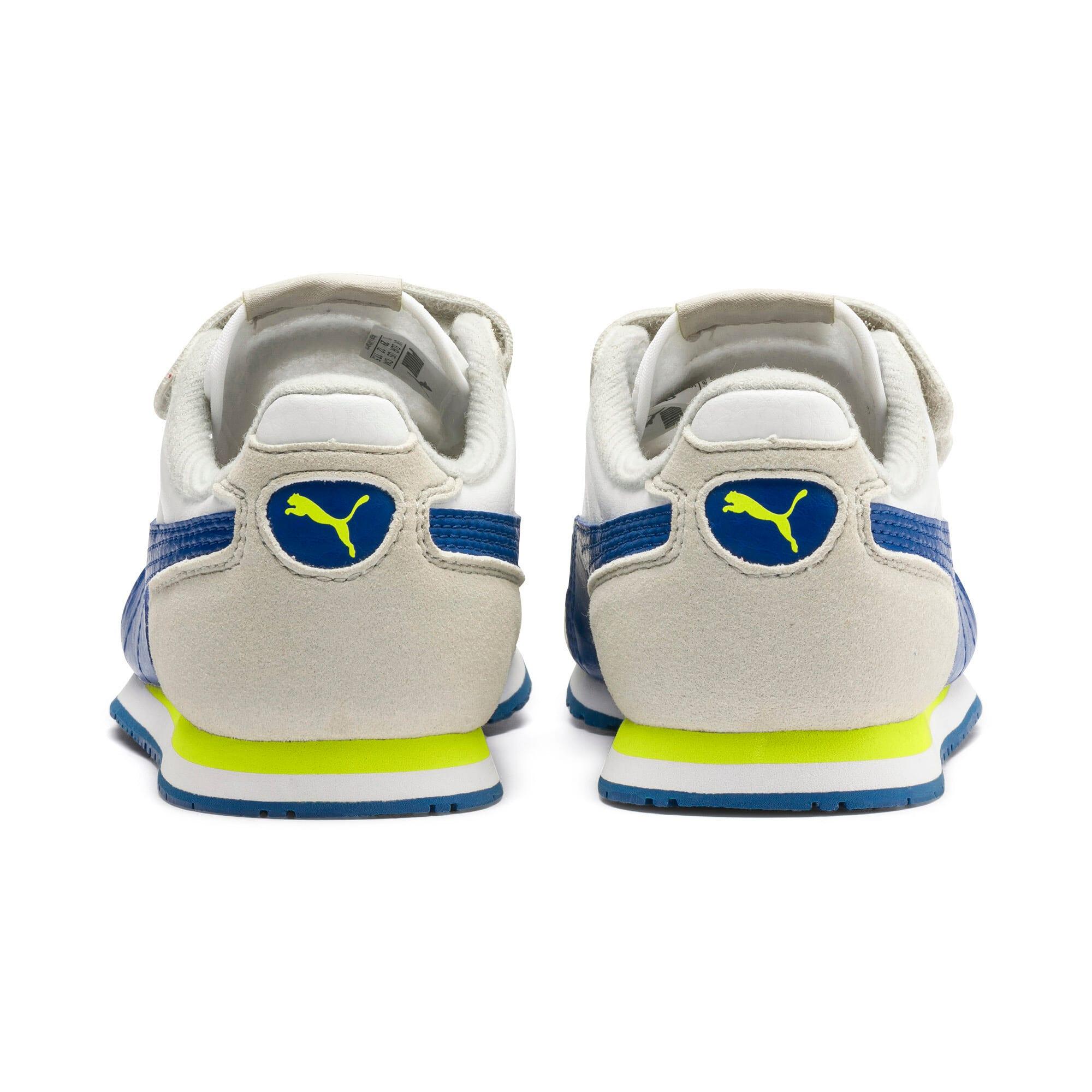 Thumbnail 3 of Cabana Racer SL V PS Baby Sneaker, Puma White-Galaxy Blue, medium