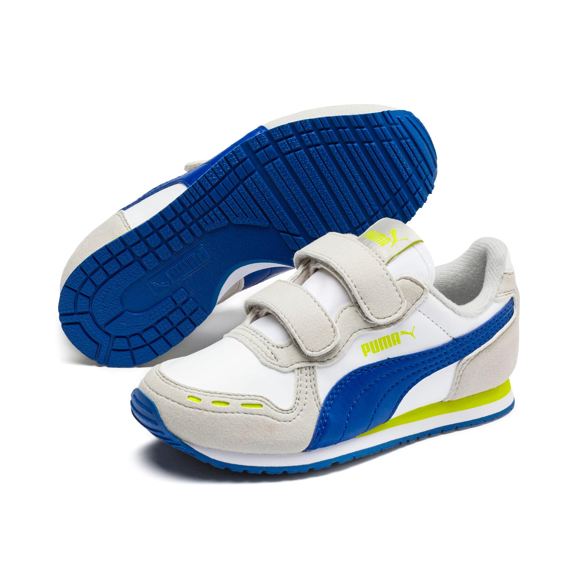 Thumbnail 2 of Cabana Racer SL V PS Baby Sneaker, Puma White-Galaxy Blue, medium