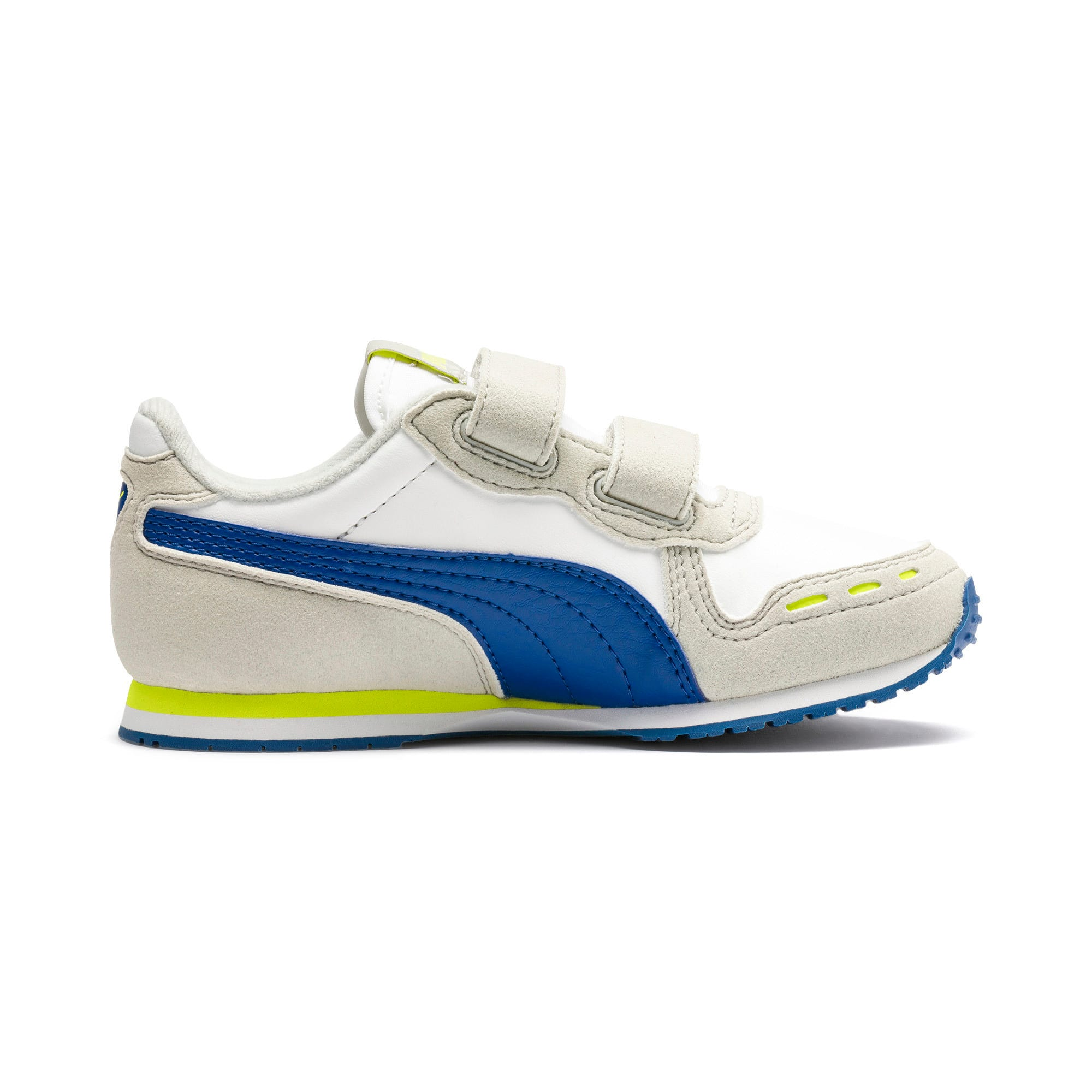 Thumbnail 5 of Cabana Racer SL V PS Baby Sneaker, Puma White-Galaxy Blue, medium