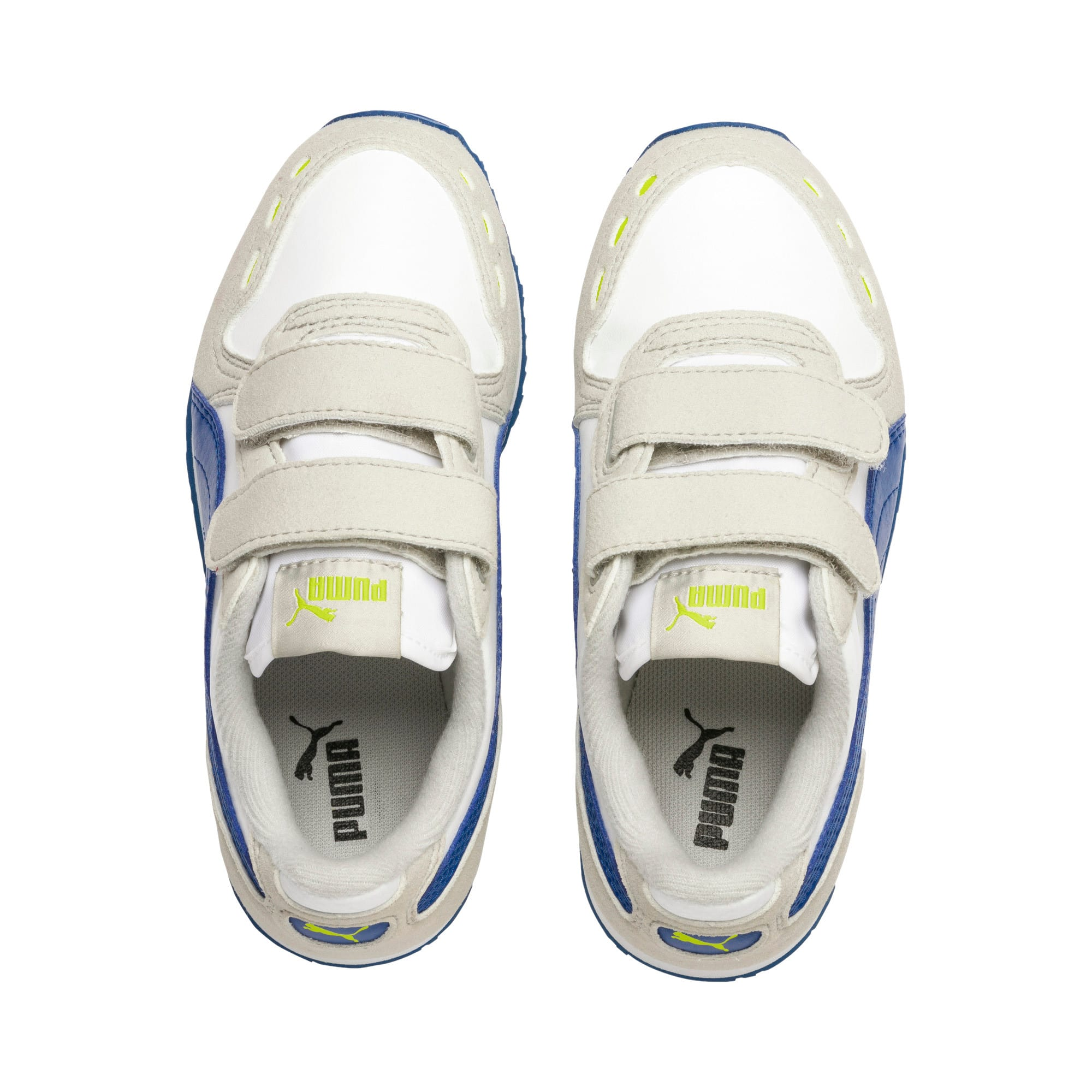 Thumbnail 6 of Cabana Racer SL V PS Baby Sneaker, Puma White-Galaxy Blue, medium