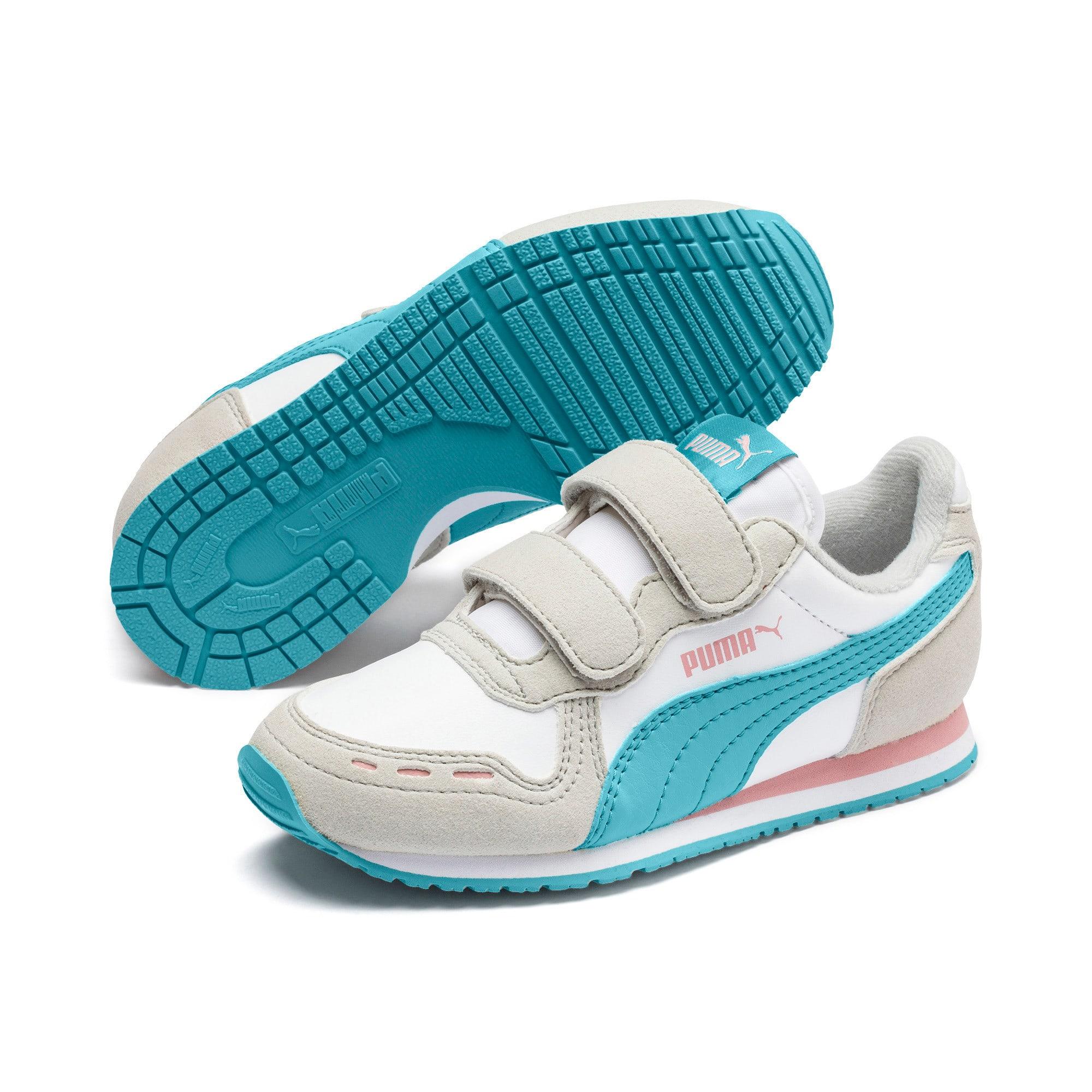 Thumbnail 2 of Cabana Racer SL AC Little Kids' Shoes, Puma White-Milky Blue, medium