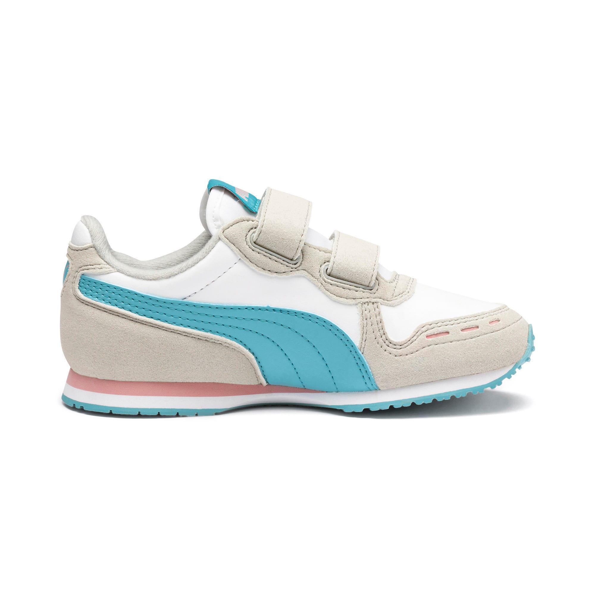 Thumbnail 5 of Cabana Racer SL V PS Baby Sneaker, Puma White-Milky Blue, medium