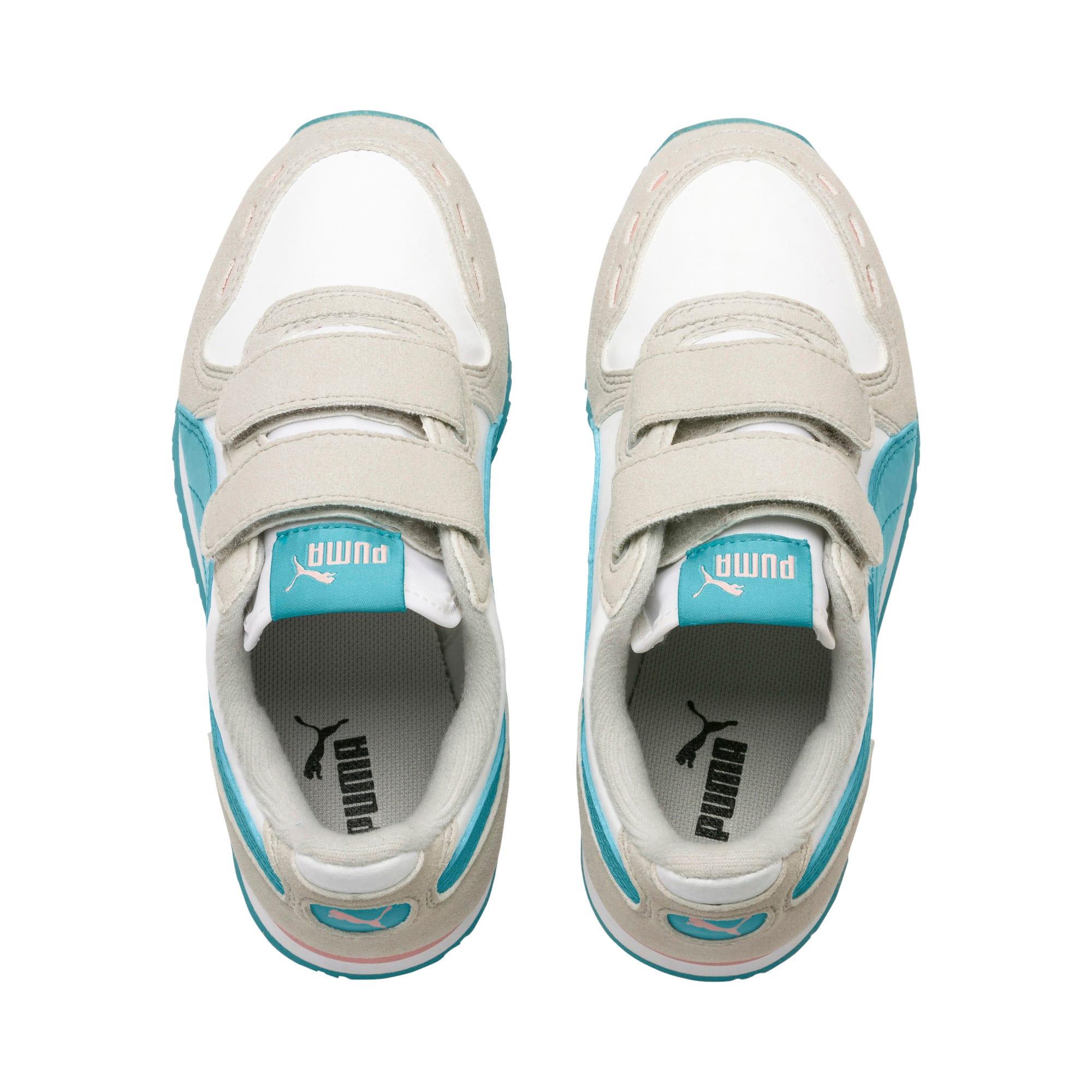 Thumbnail 6 of Cabana Racer SL V PS Baby Sneaker, Puma White-Milky Blue, medium