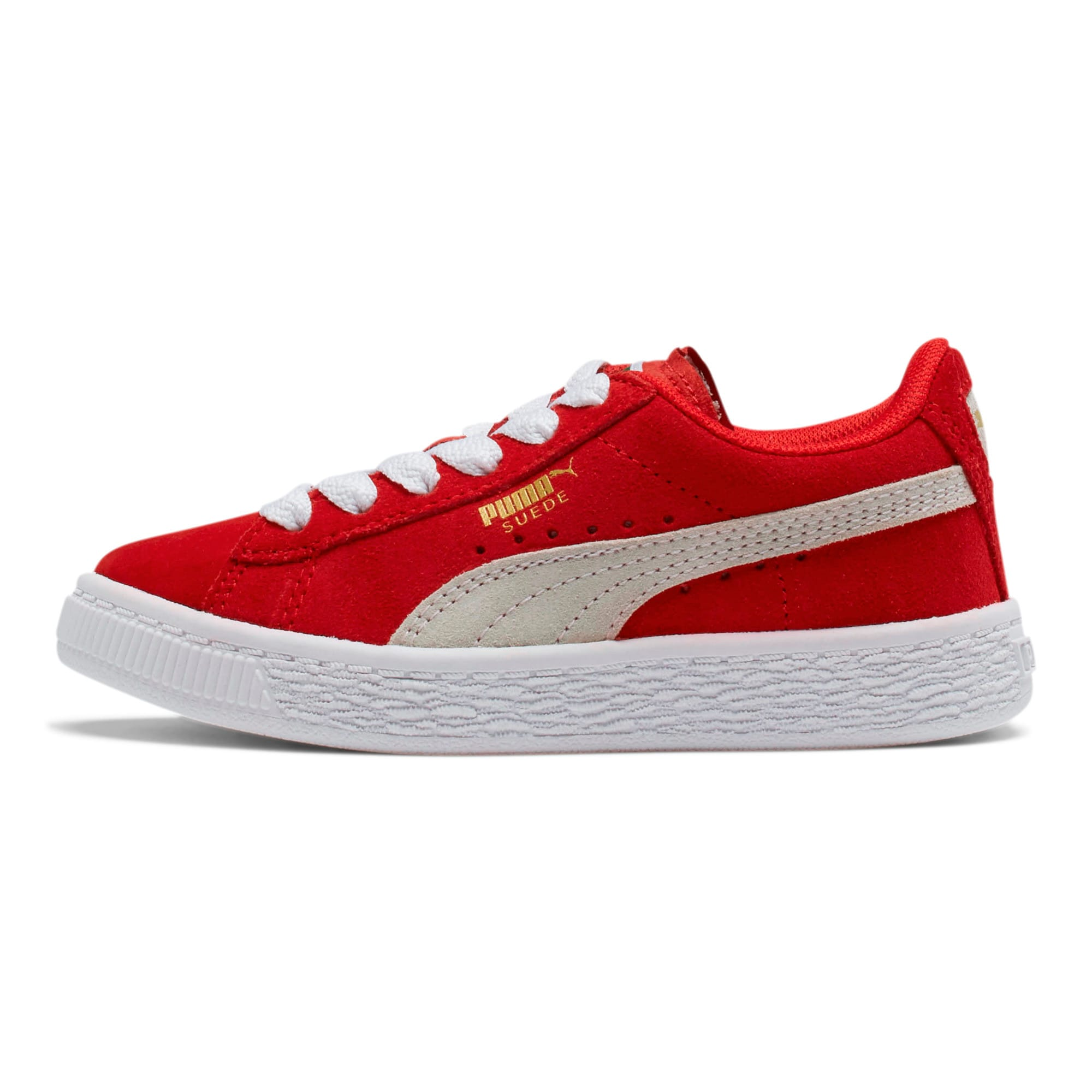 Thumbnail 1 of Suede Little Kids' Shoes, high risk red-white, medium