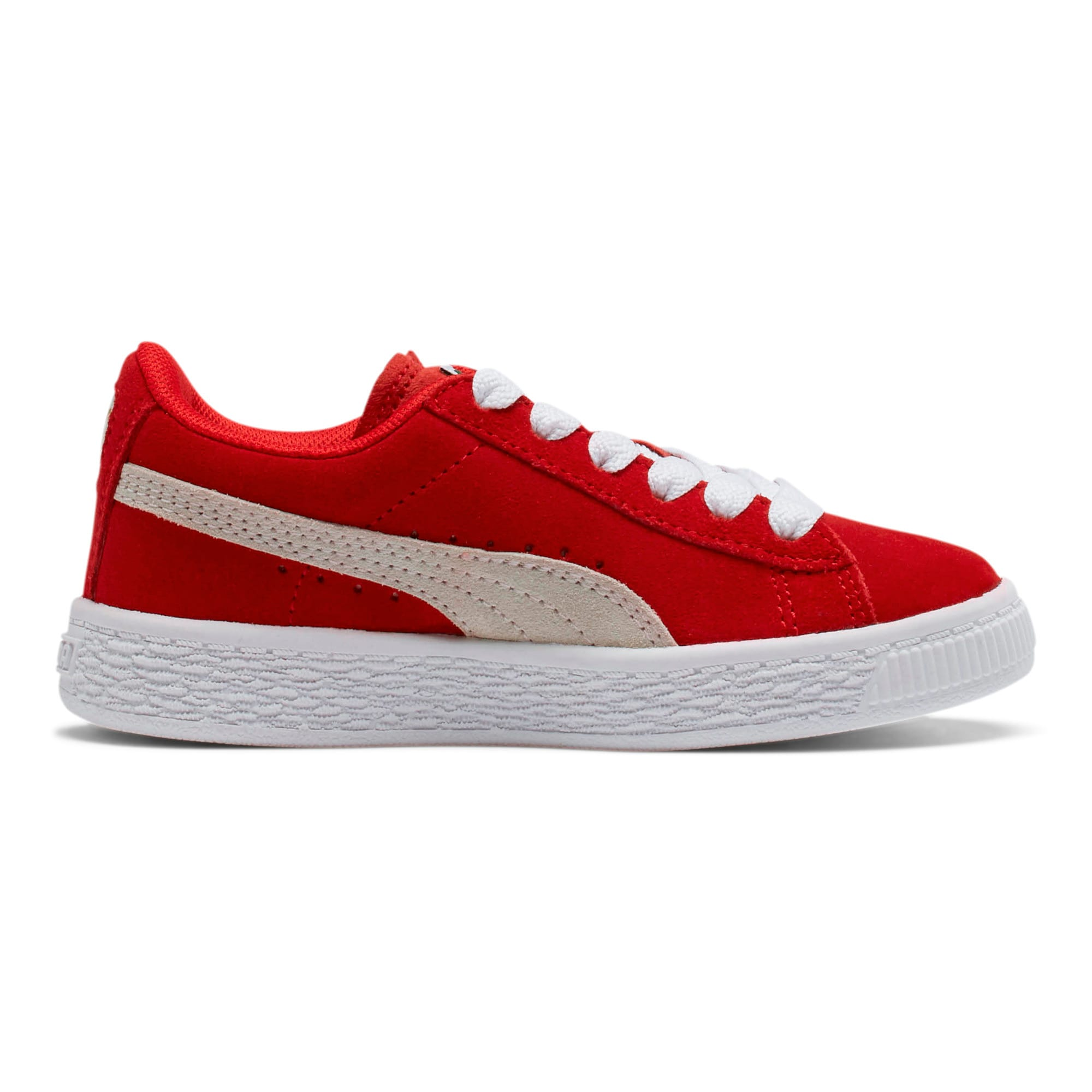 Thumbnail 5 of Suede Little Kids' Shoes, high risk red-white, medium