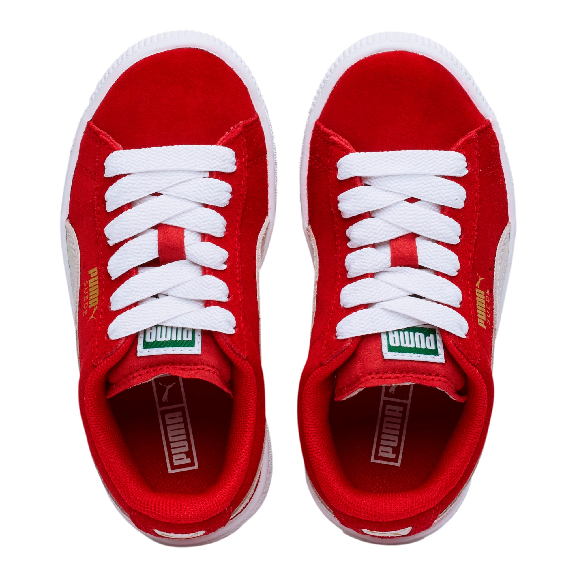 Thumbnail 6 of Suede Little Kids' Shoes, high risk red-white, medium