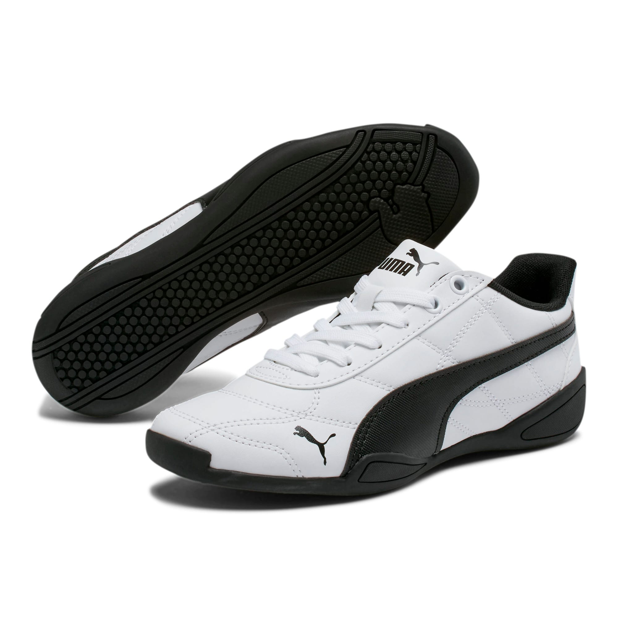 Thumbnail 2 of Tune Cat 3 Shoes JR, Puma White-Puma Black, medium