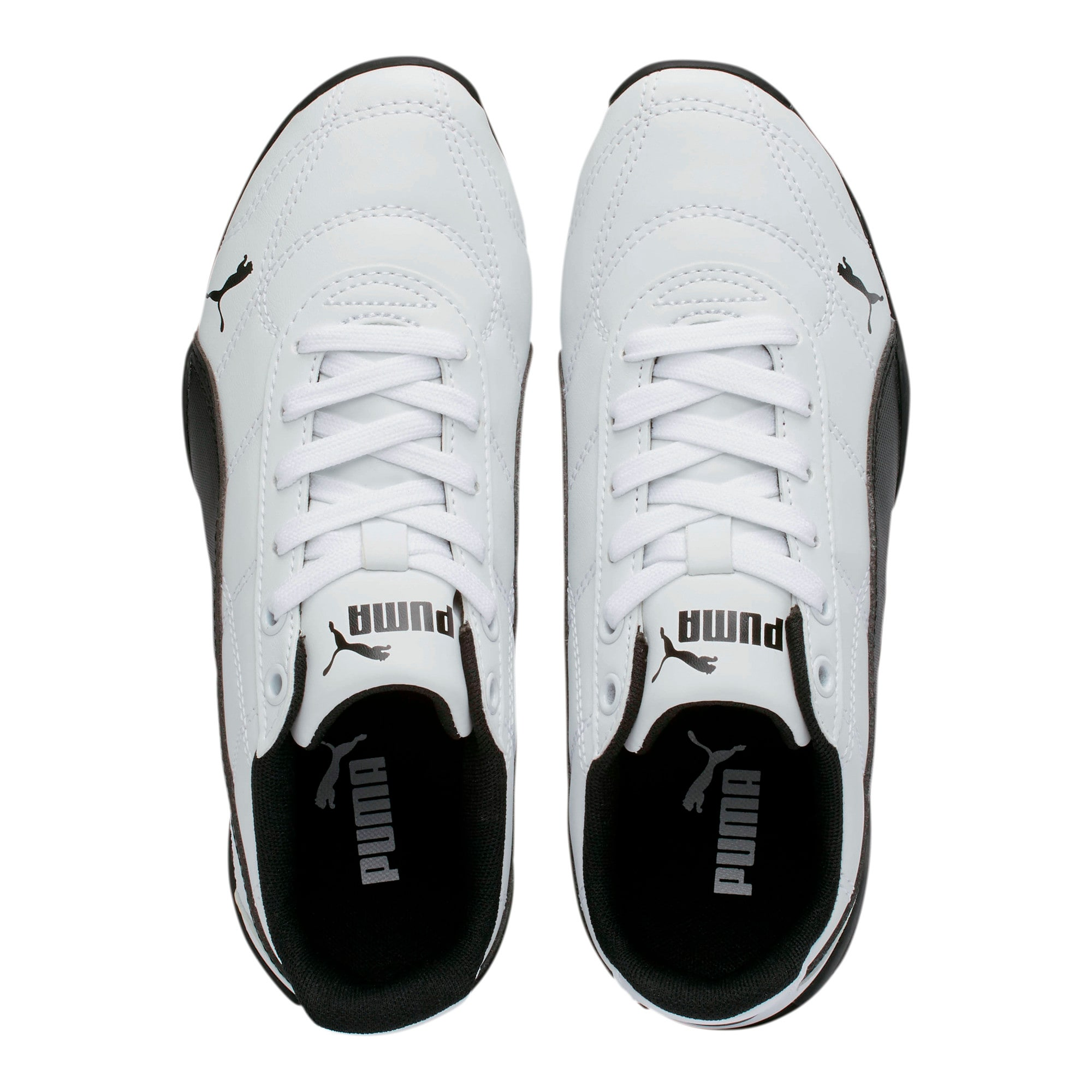 Thumbnail 6 of Tune Cat 3 Shoes JR, Puma White-Puma Black, medium