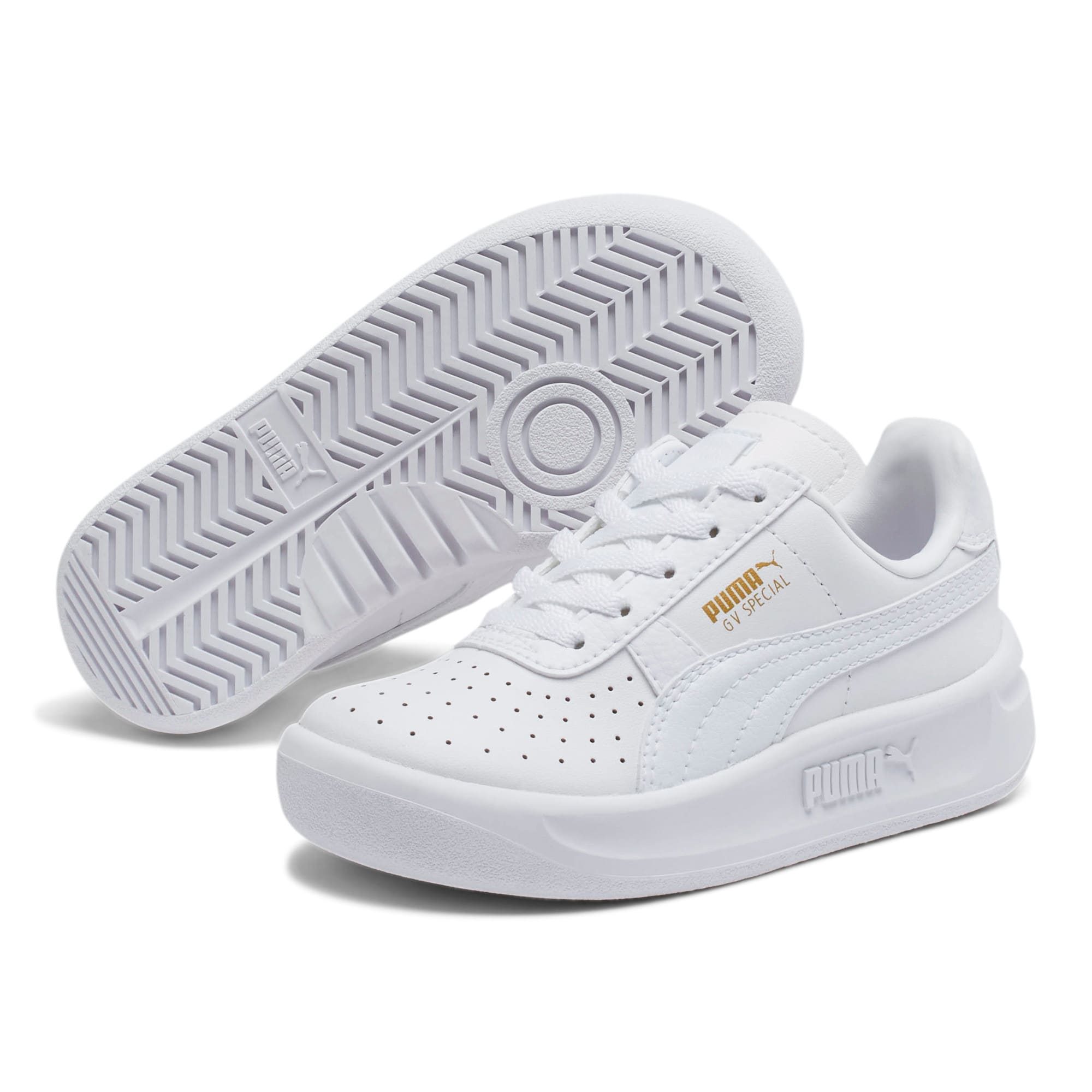 Thumbnail 2 of GV Special Little Kids' Shoes, Puma White-Puma Team Gold, medium