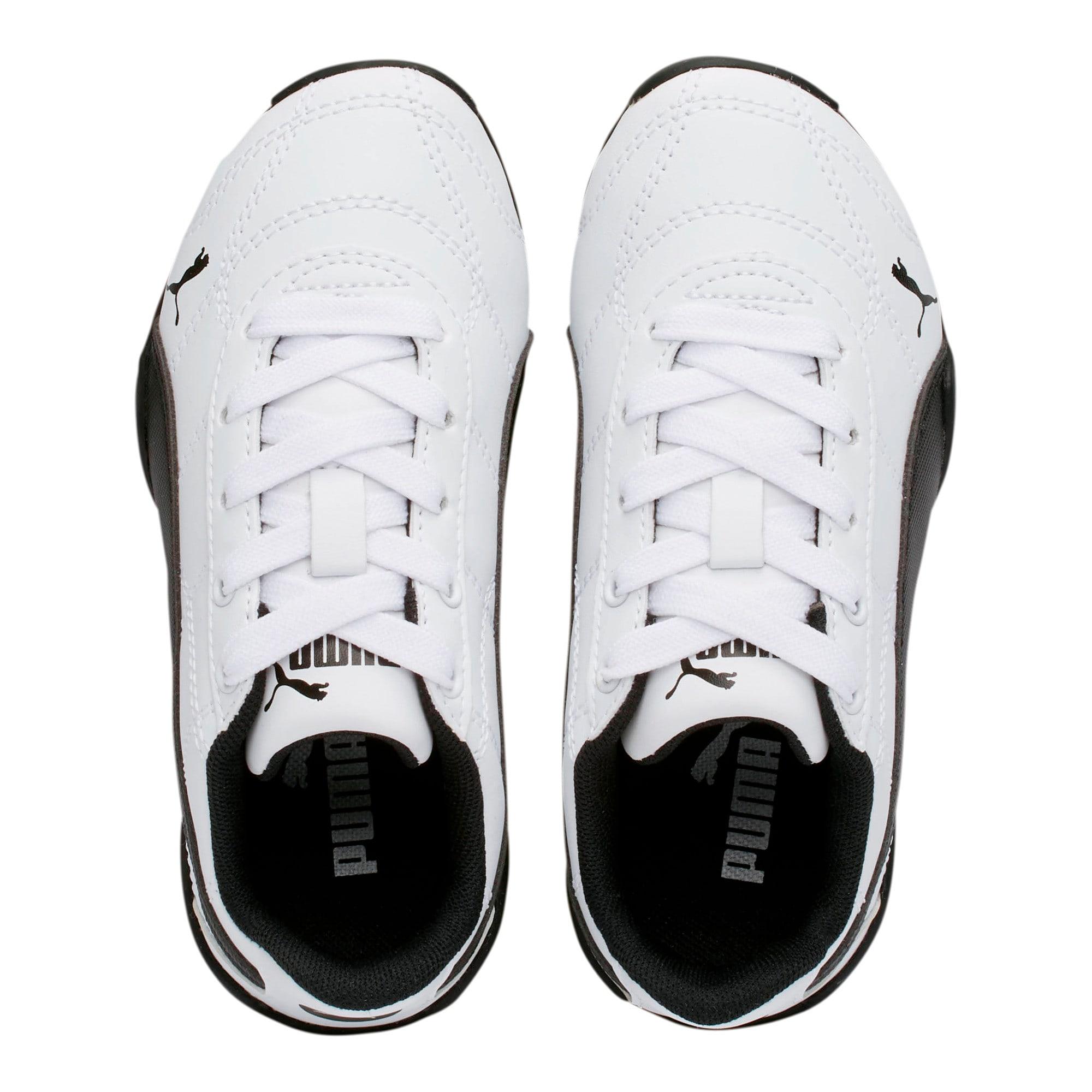 Thumbnail 6 of Tune Cat 3 Little Kids' Shoes, Puma White-Puma Black, medium
