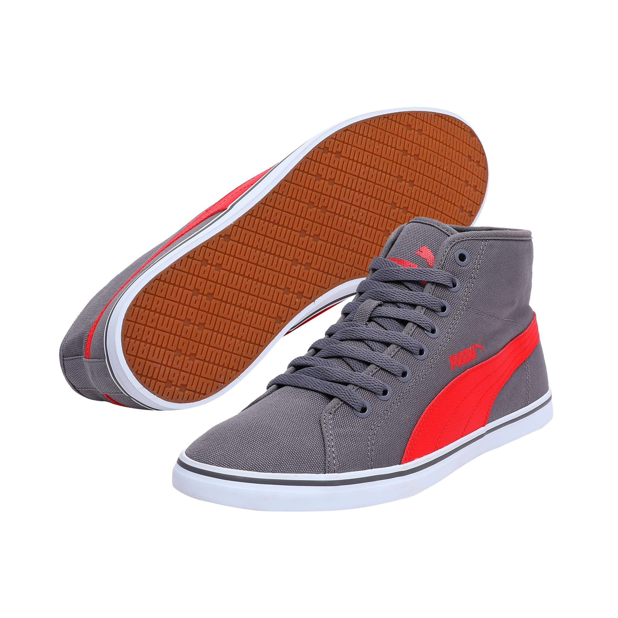 Thumbnail 2 of Elsu v2 Mid CV DP black-white, steel gray-high risk red, medium-IND
