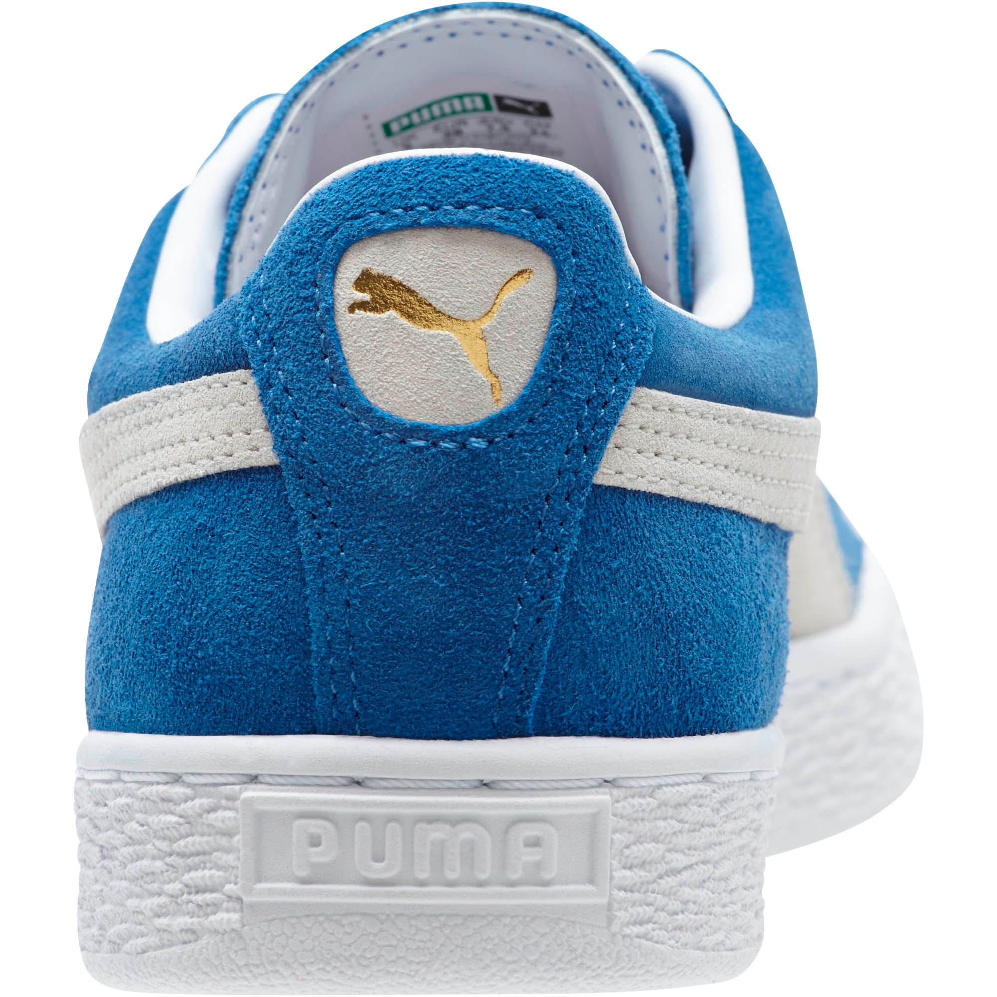 Thumbnail 4 of Suede Classic + Women's Sneakers, olympian blue-white, medium