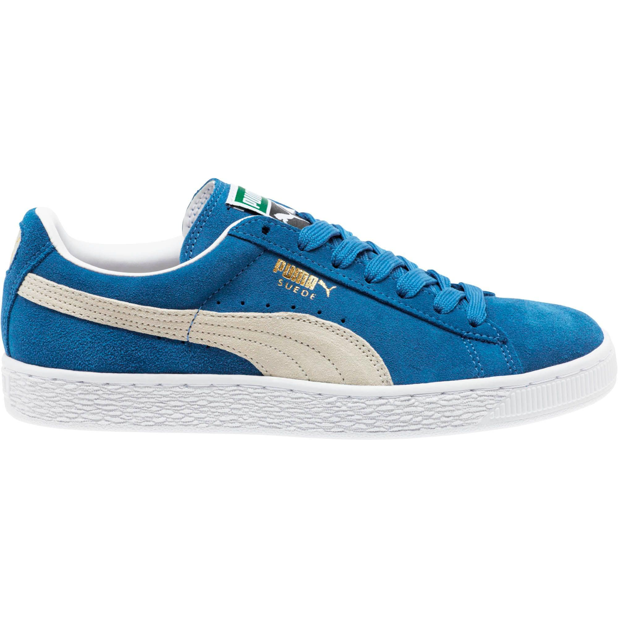 Thumbnail 6 of Suede Classic + Women's Sneakers, olympian blue-white, medium