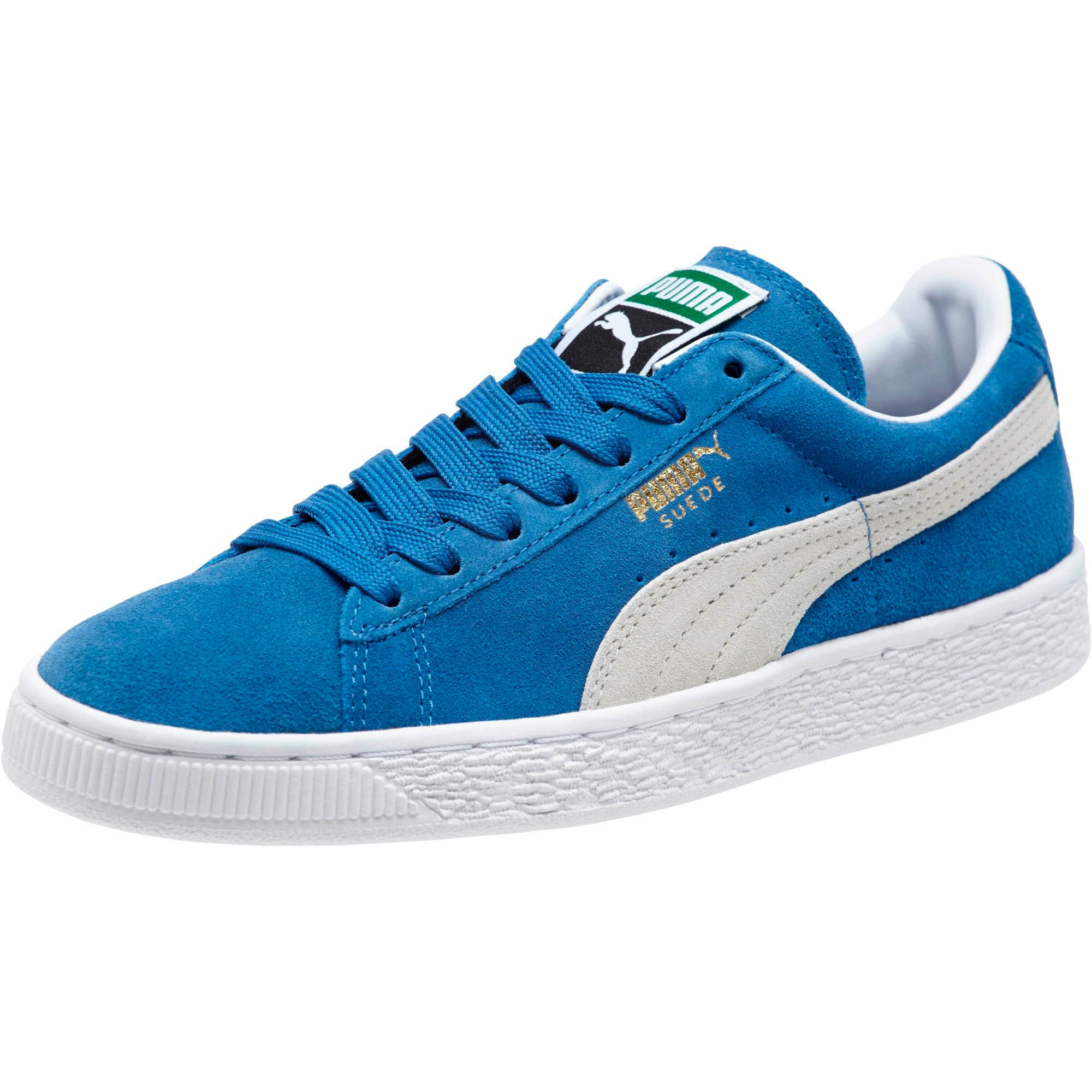 Thumbnail 1 of Suede Classic + Women's Sneakers, olympian blue-white, medium