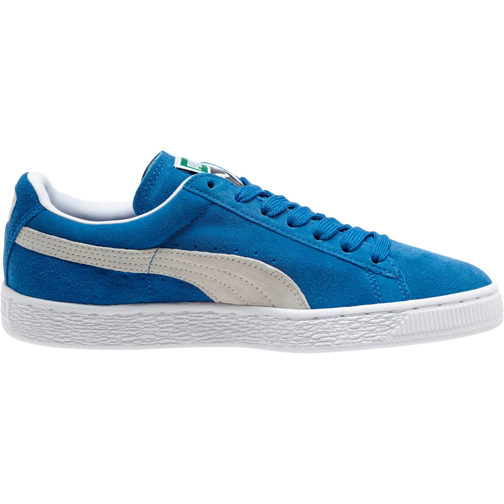 Thumbnail 3 of Suede Classic + Women's Sneakers, olympian blue-white, medium