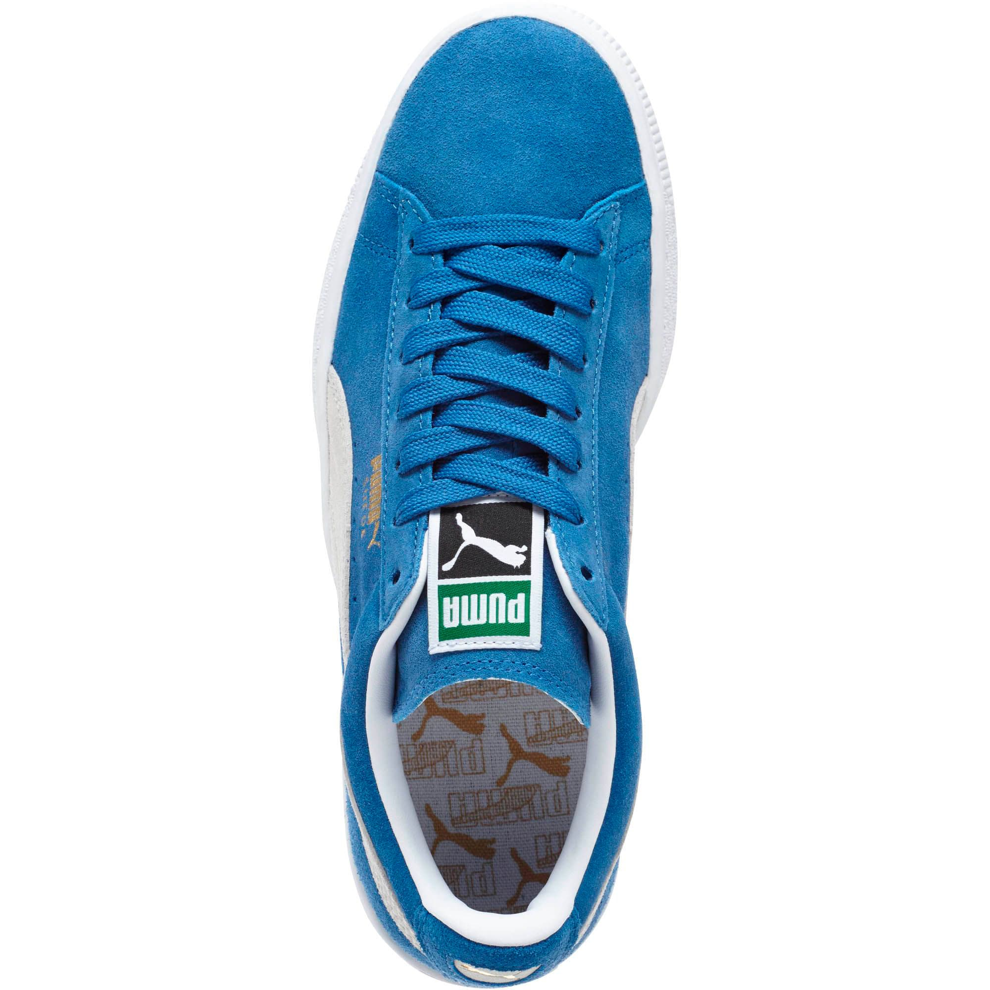 Thumbnail 5 of Suede Classic + Women's Sneakers, olympian blue-white, medium