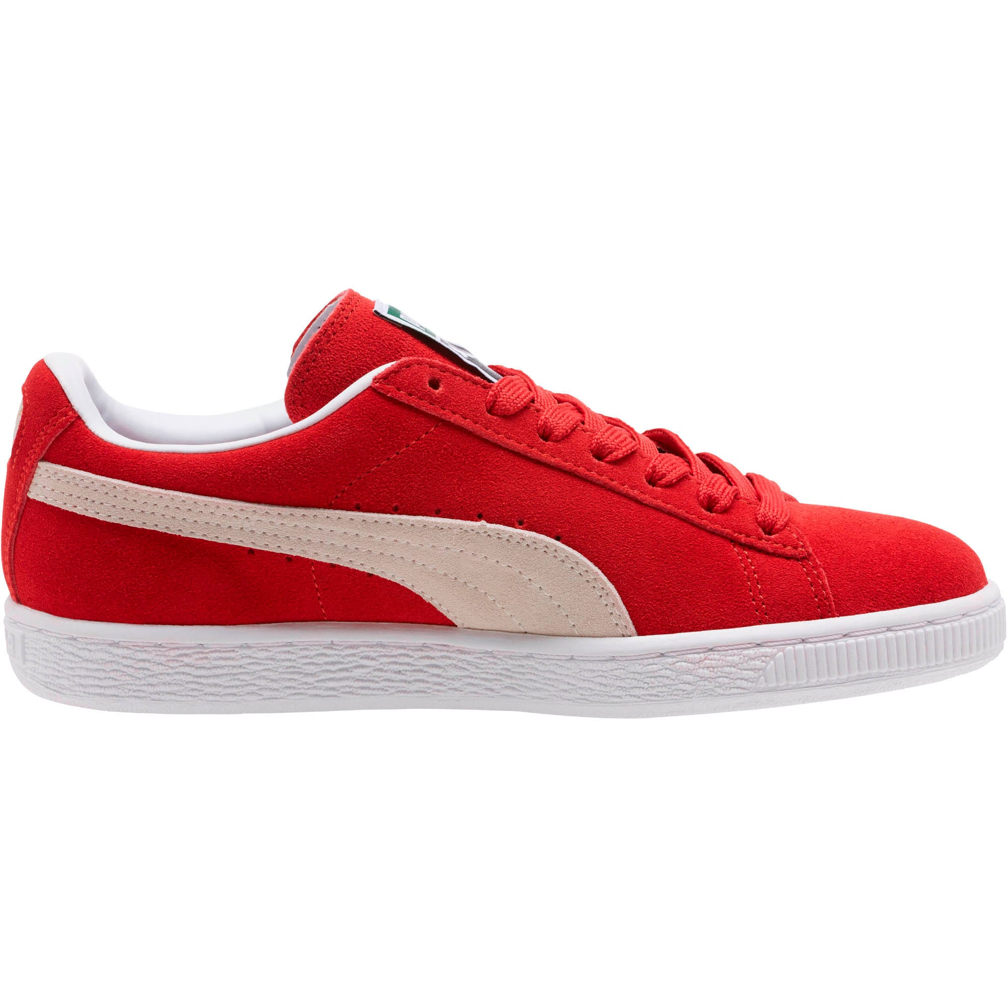 Thumbnail 3 of Suede Classic + Women's Sneakers, high risk red-white, medium
