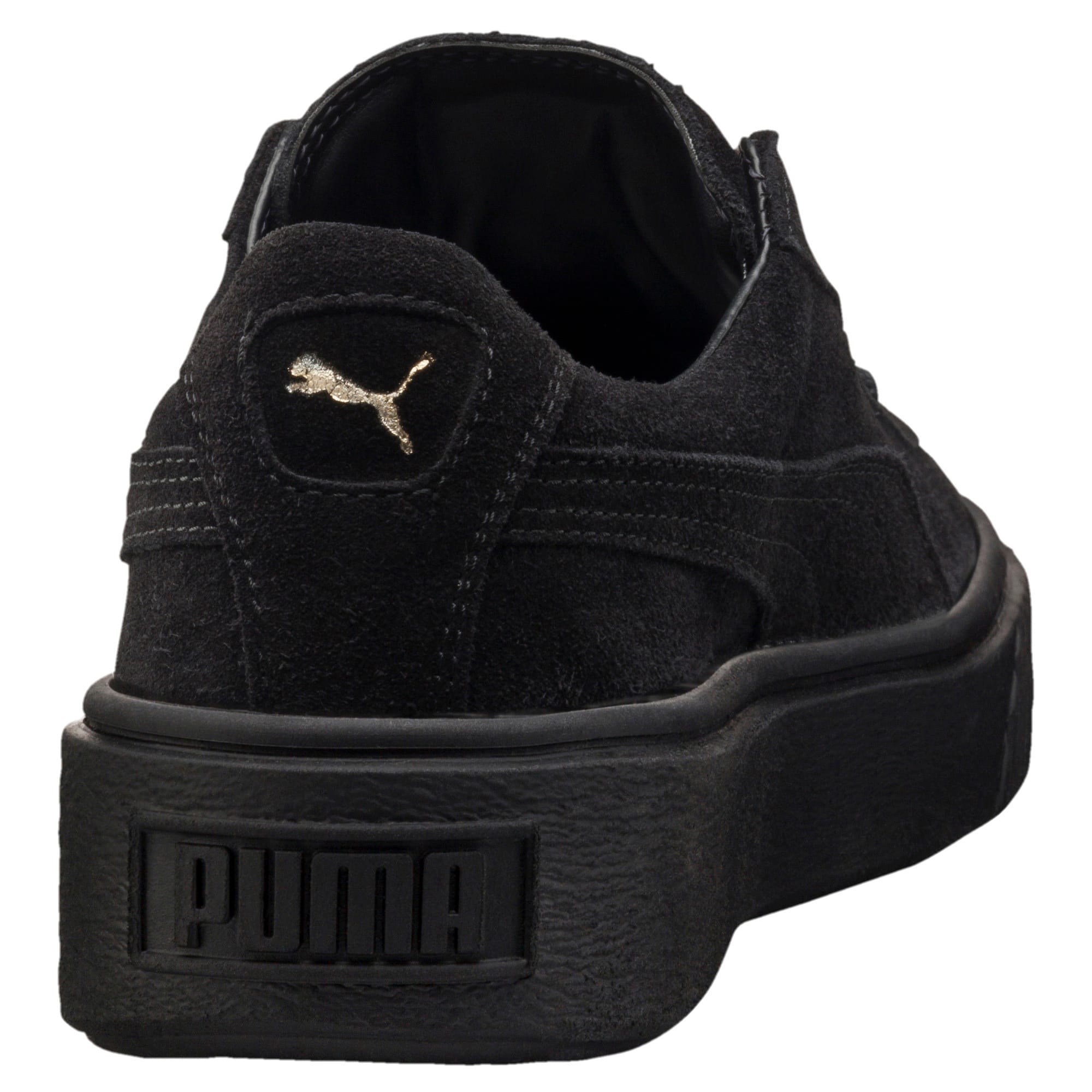 Thumbnail 3 of Suede Platform GOLD Women's Trainers, Gold-Puma Black-Puma Black, medium-IND