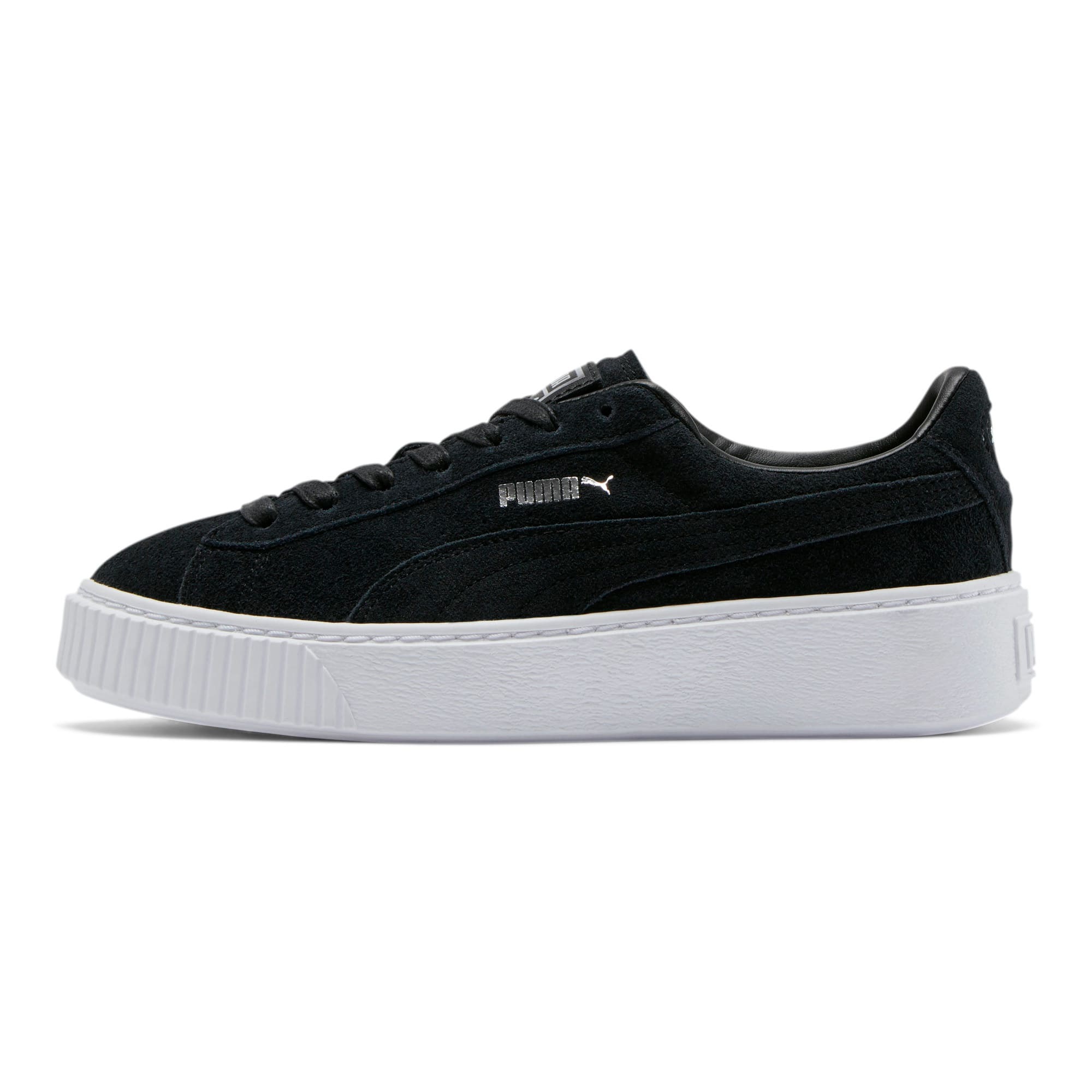 Thumbnail 1 of Suede Platform Women's Sneakers, Puma Black-Black-Puma White, medium