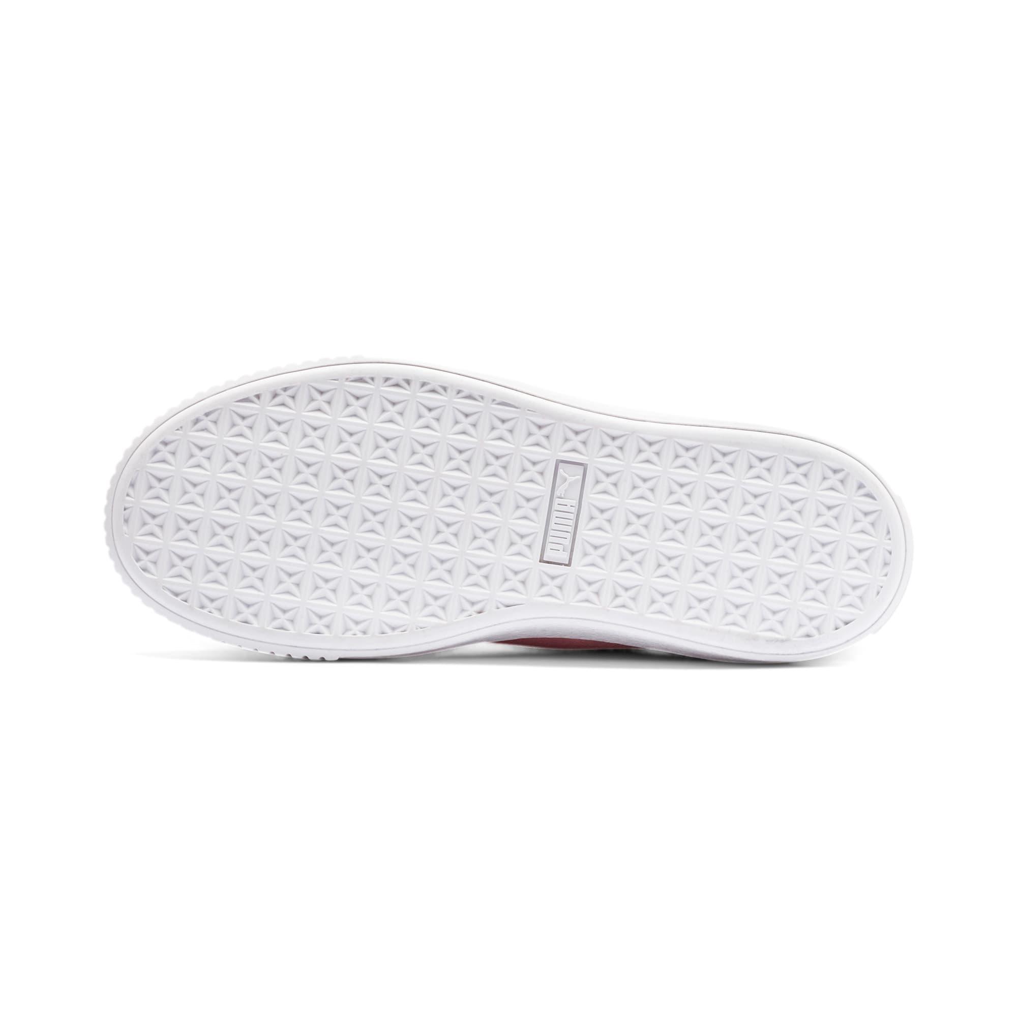 Thumbnail 4 of Suede Platform Women's Sneakers, Bridal Rose-Puma Team Gold, medium