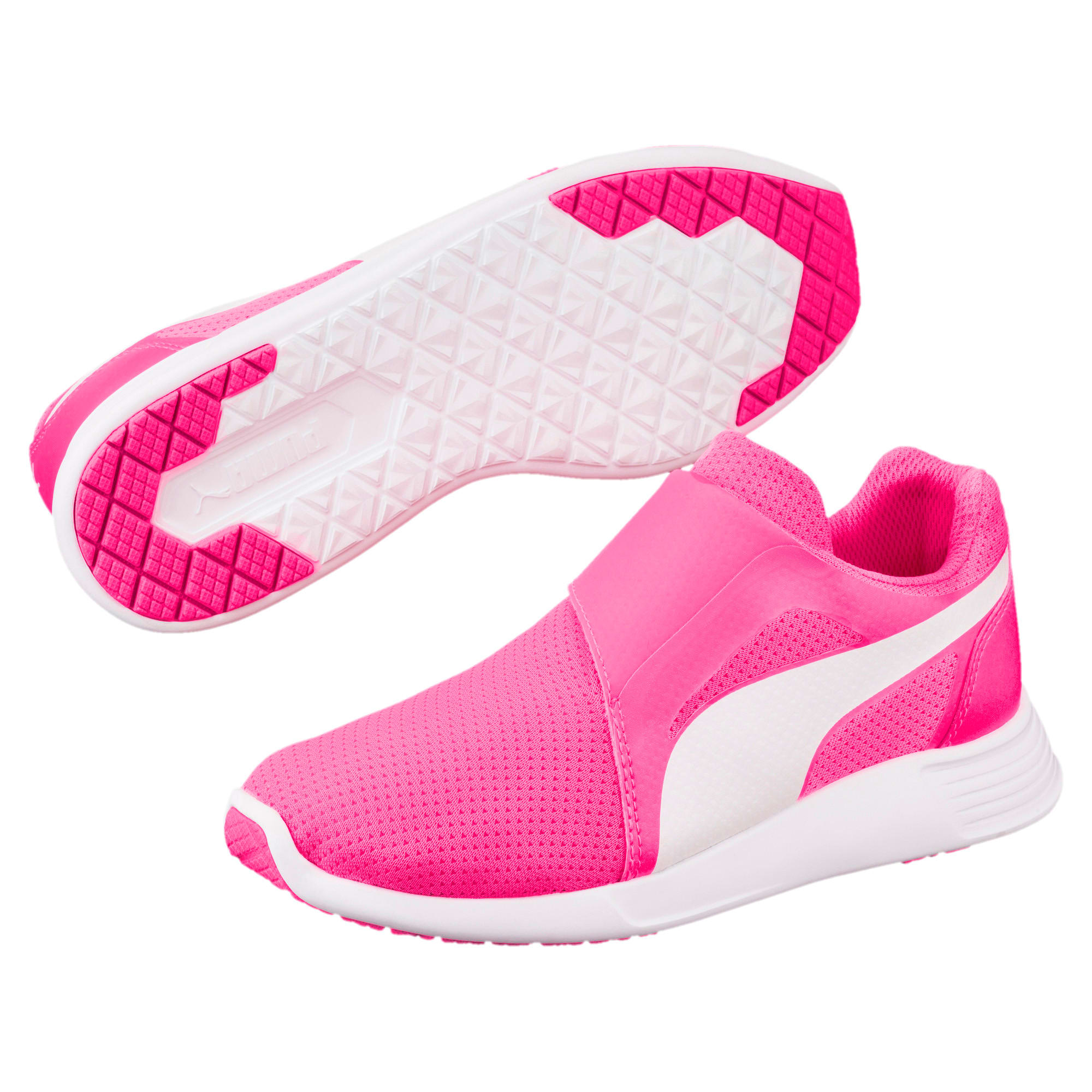 Thumbnail 2 of ST Trainer Evo AC Kids' Trainers, KNOCKOUT PINK-Puma White, medium-IND