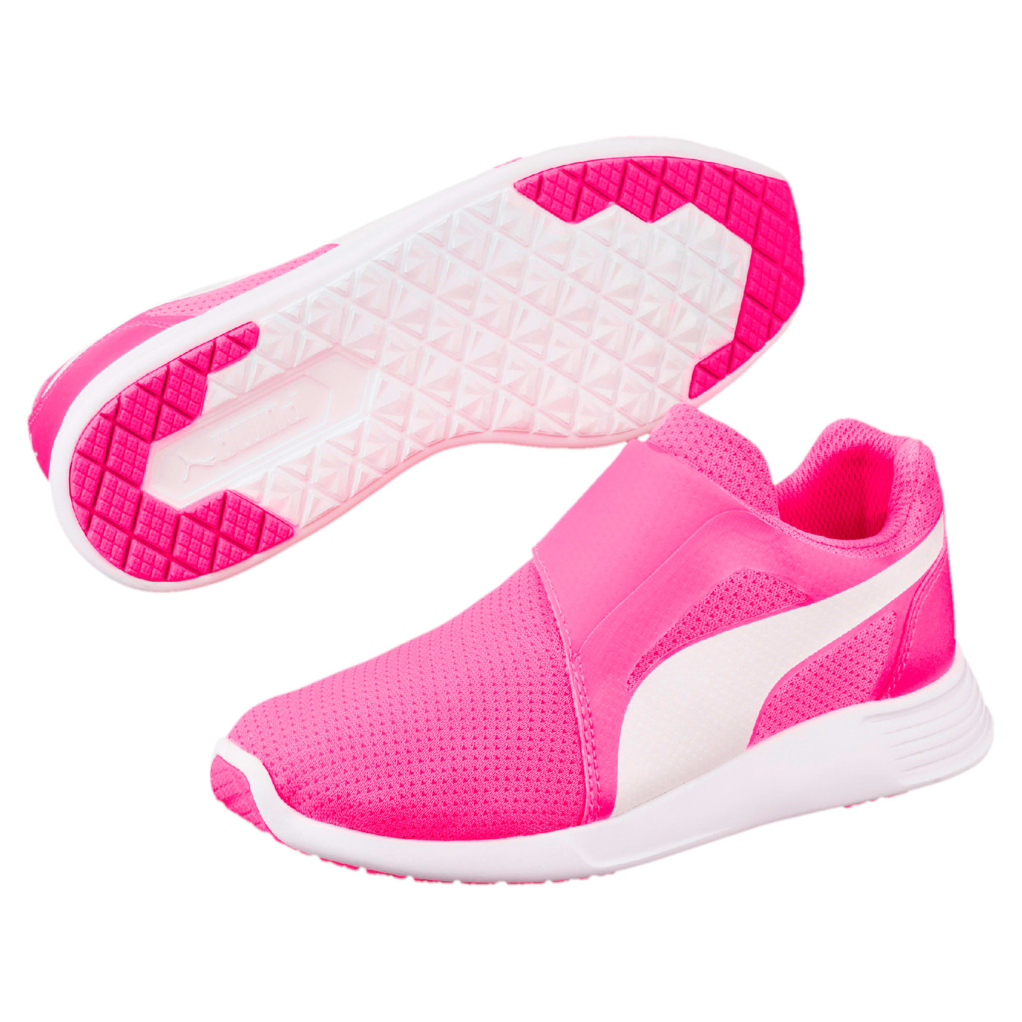 Thumbnail 6 of ST Trainer Evo AC Kids' Trainers, KNOCKOUT PINK-Puma White, medium-IND
