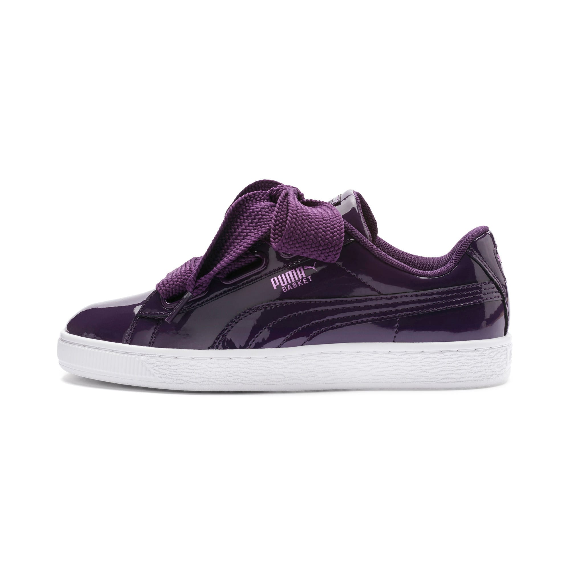 Basket Heart Patent Women's Trainers, Indigo-Puma White, large-IND